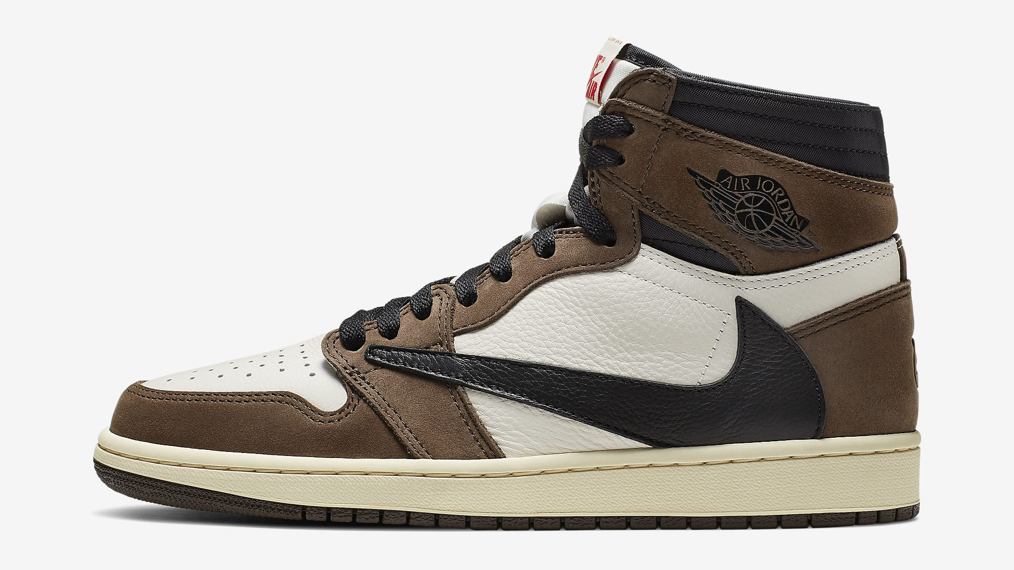 Travis Scott x Air Jordan 1 Brown Release Date CD4487-100 Profile