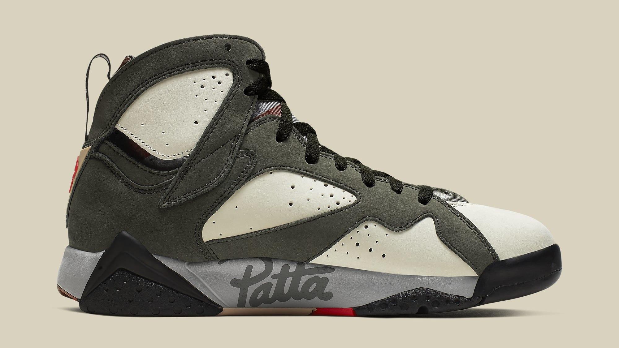 Patta x Air Jordan 7 VII Icicle Release Date AT3375-100 Medial