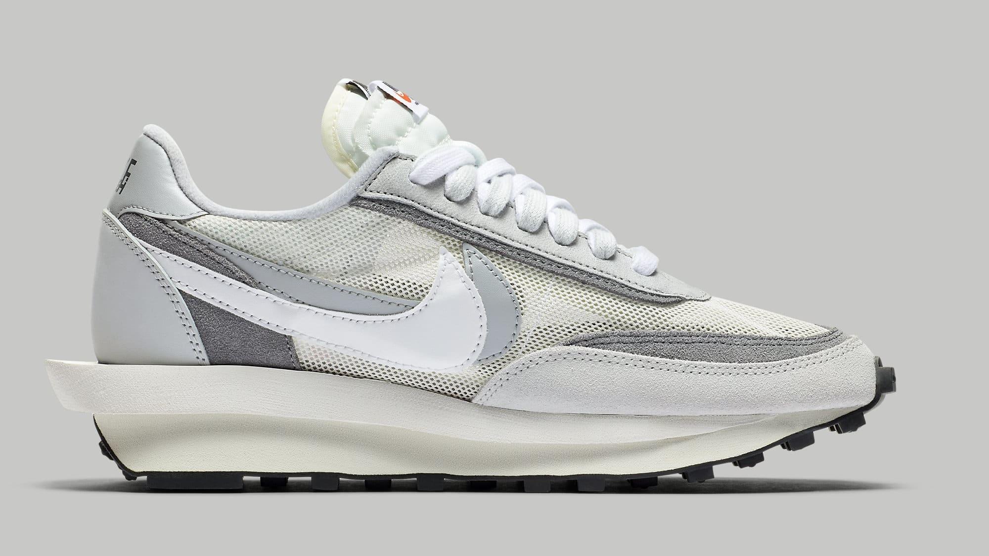 Sacai Nike LDWaffle Summit White Wolf Grey Release Date BV0073-100 Medial