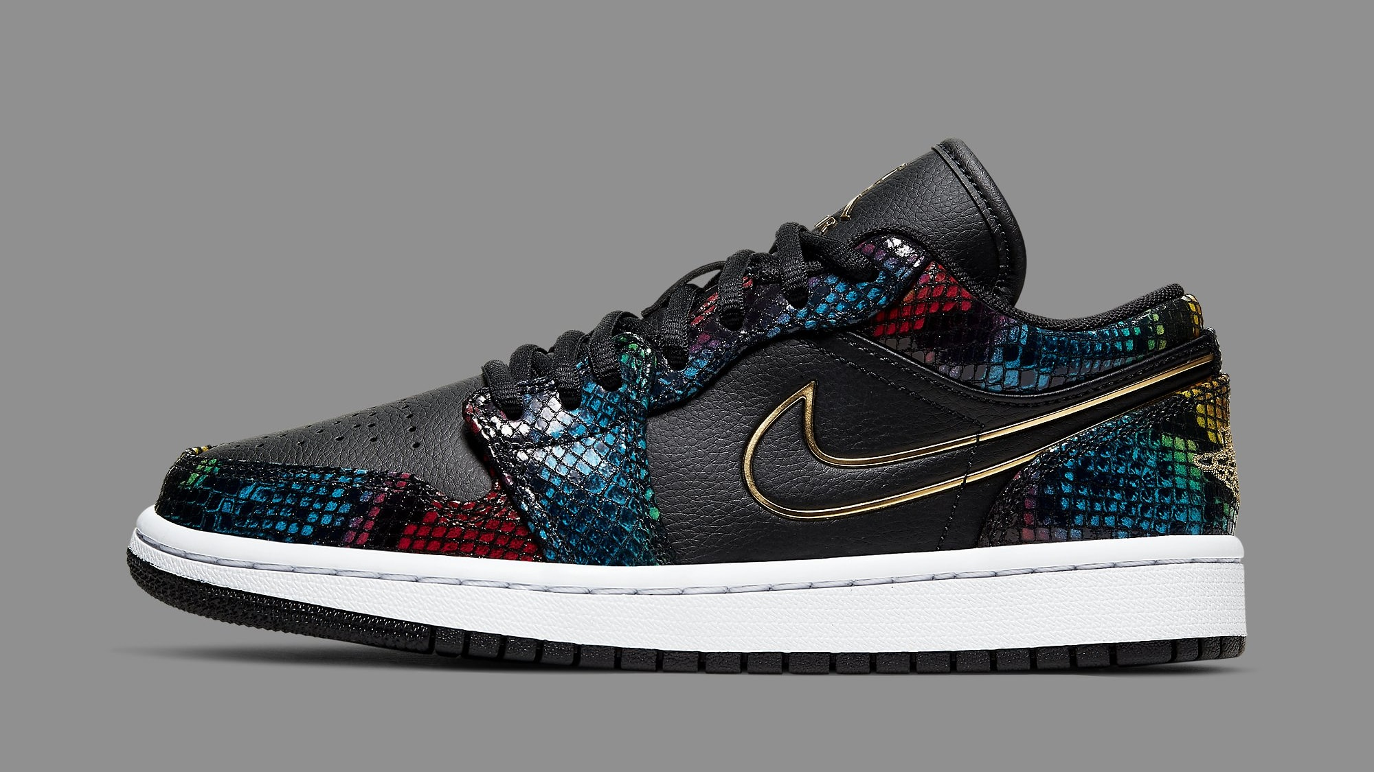 Air Jordan 1 Women's Snakeskin CW5580-001 Lateral