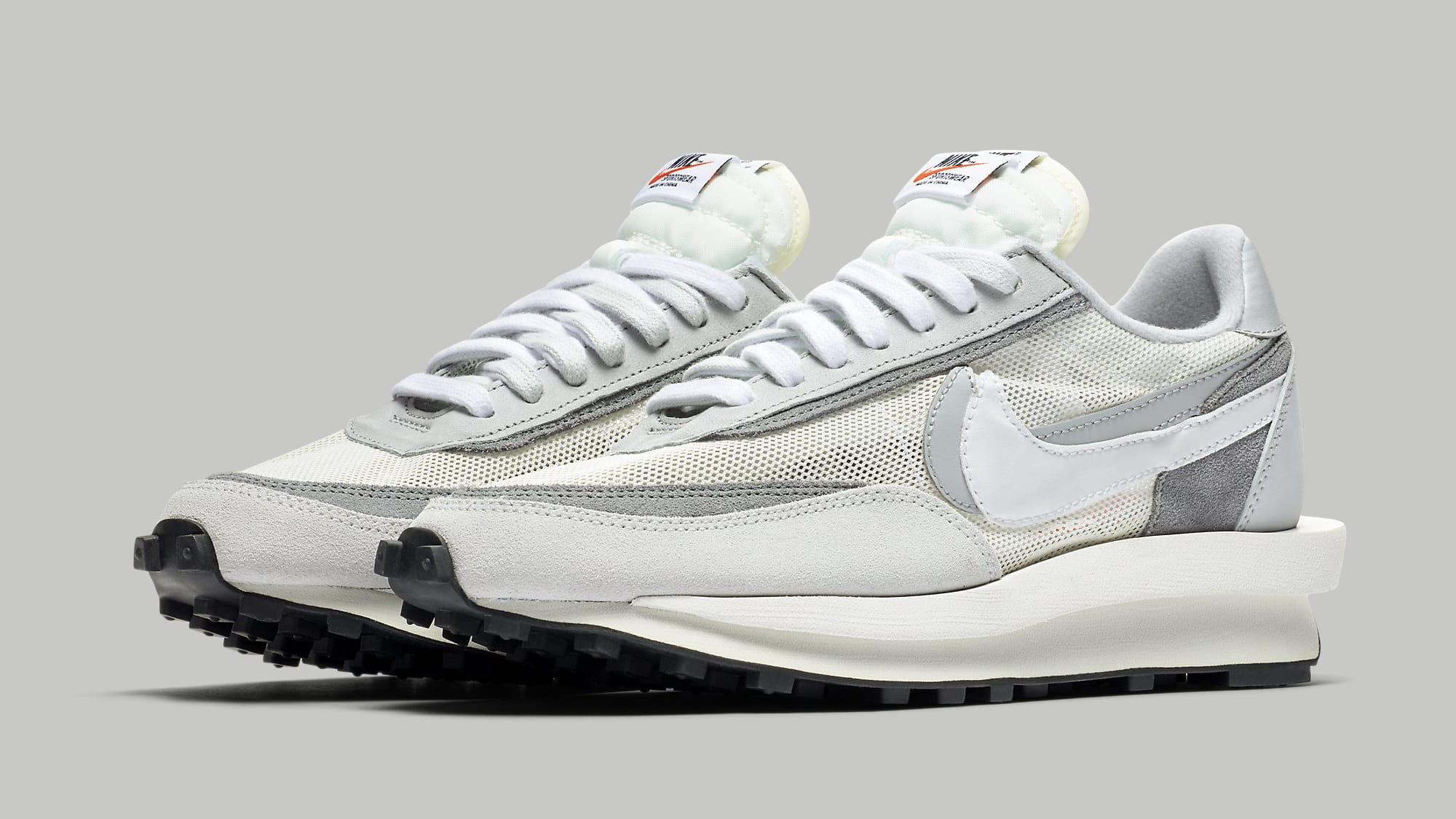 Sacai Nike LDWaffle Summit White Wolf Grey Release Date BV0073-100 Pair