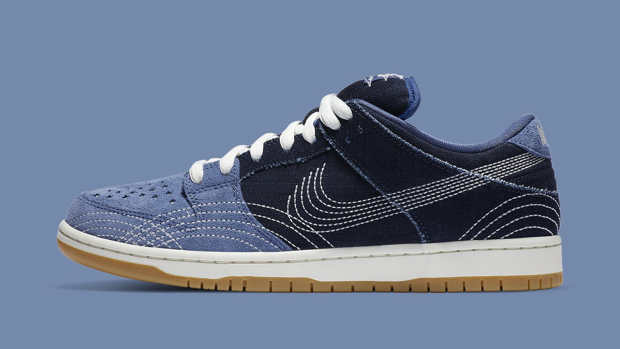 Nike SB Dunk Low 'Sashiko' CV0316-400 Lateral