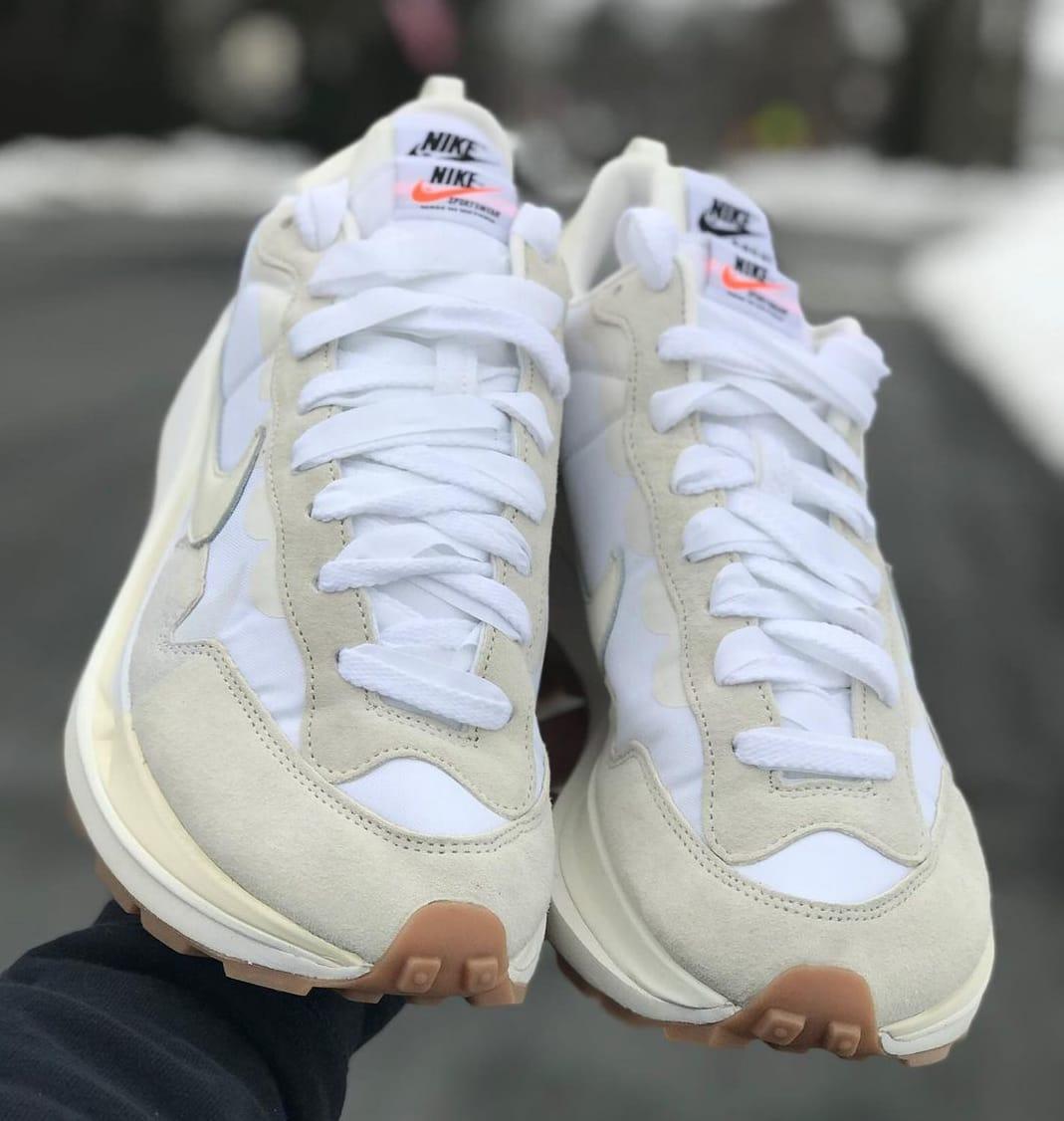 Sacai x Nike VaporWaffle 'Cream' Front