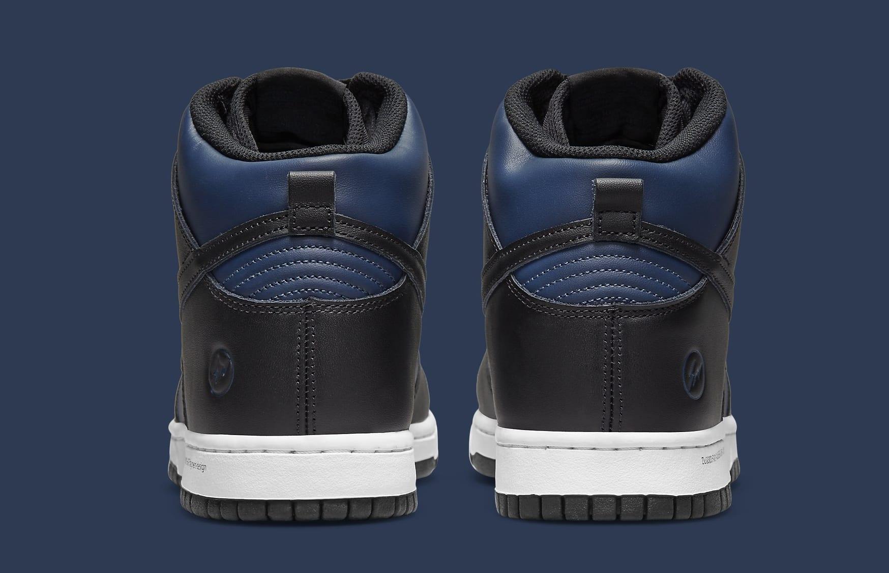 Fragment x Nike Dunk High 'Japan' DJ0383-400 Heel
