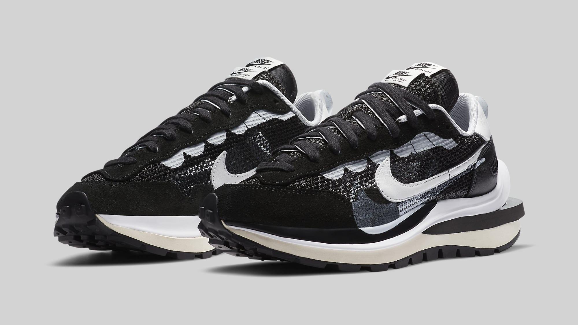 Sacai x Nike VaporWaffle 'Black' CV1363-001 Pair