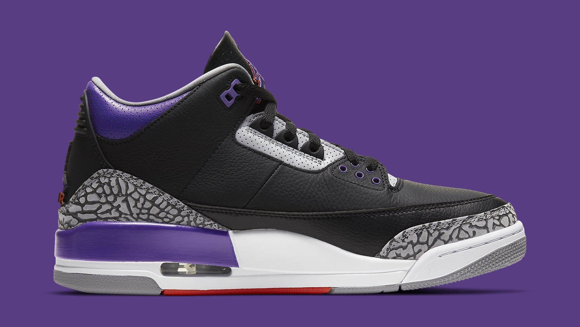 Air Jordan 3 Retro 'Court Purple' CT8532-050 Medial