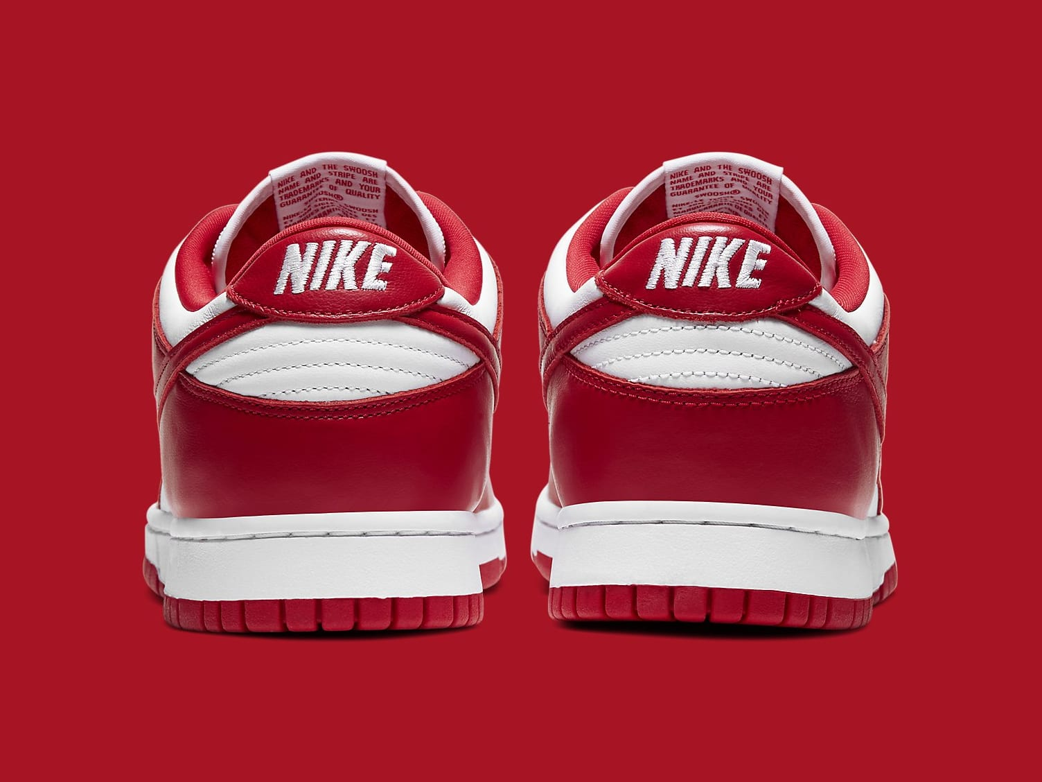 Nike Dunk Low University Red Release Date CU1727-100 Heel