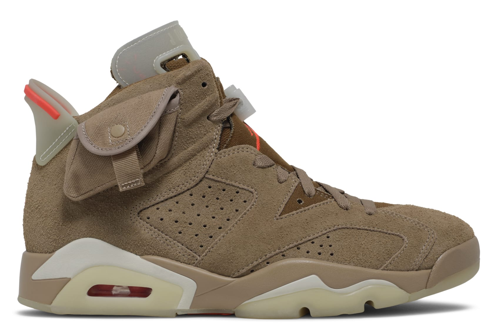 Travis Scott x Air Jordan 6 VI British Khaki Release Date DH0690-200 Profile
