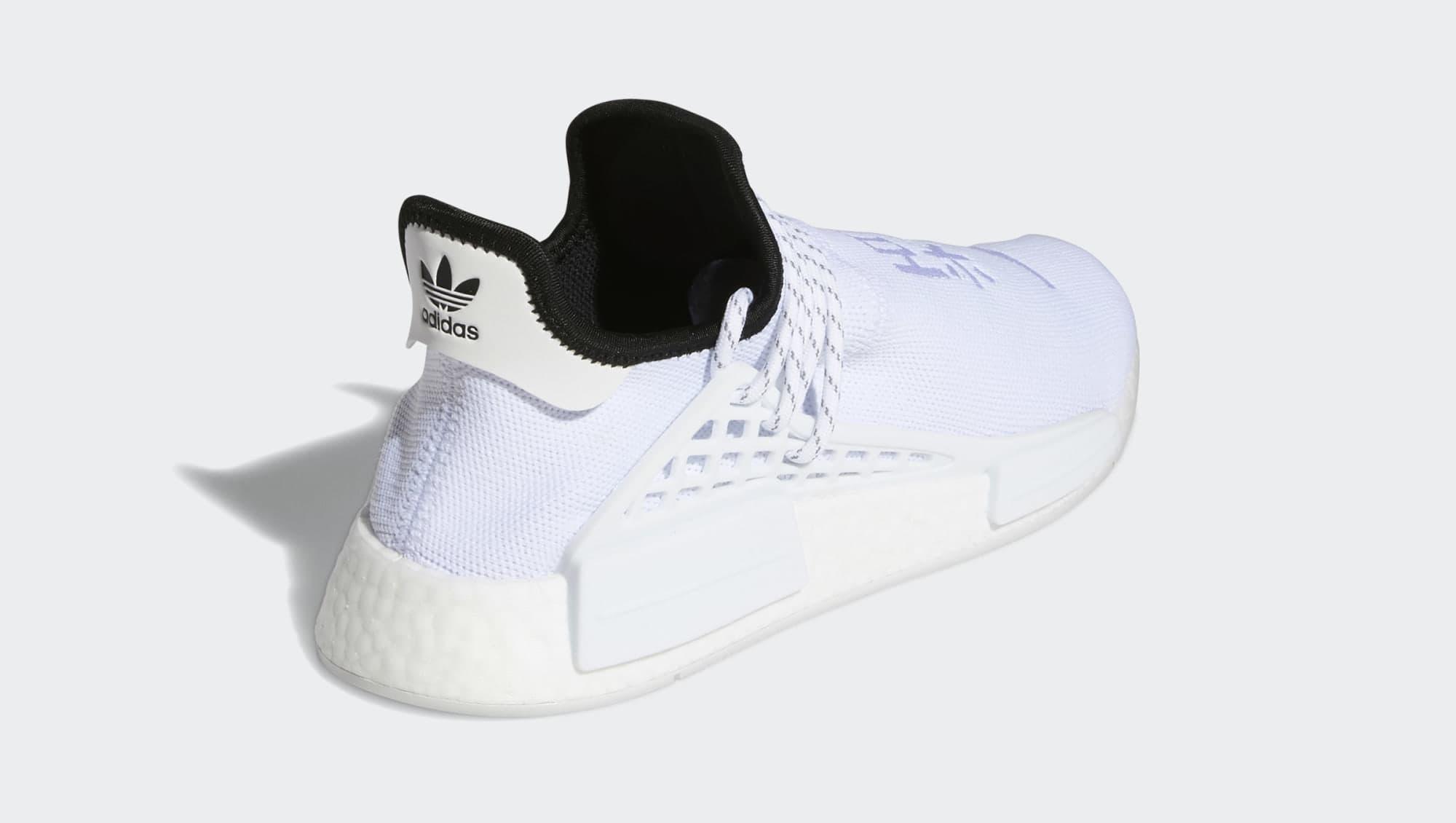 Pharrell Adidas NMD Hu White GY0092 Heel