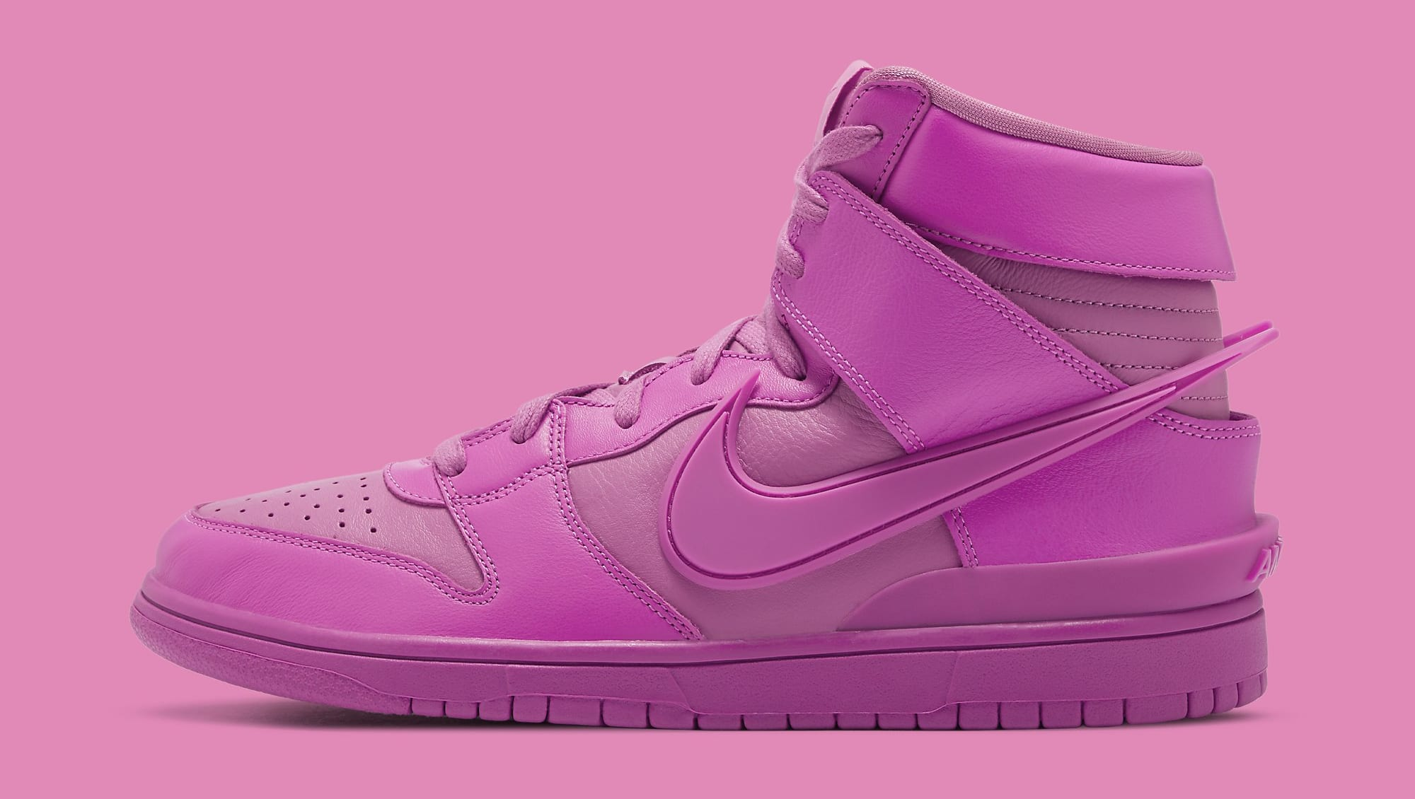 Ambush x Nike Dunk High 'Cosmic Fuchsia' CU7544-600 Lateral