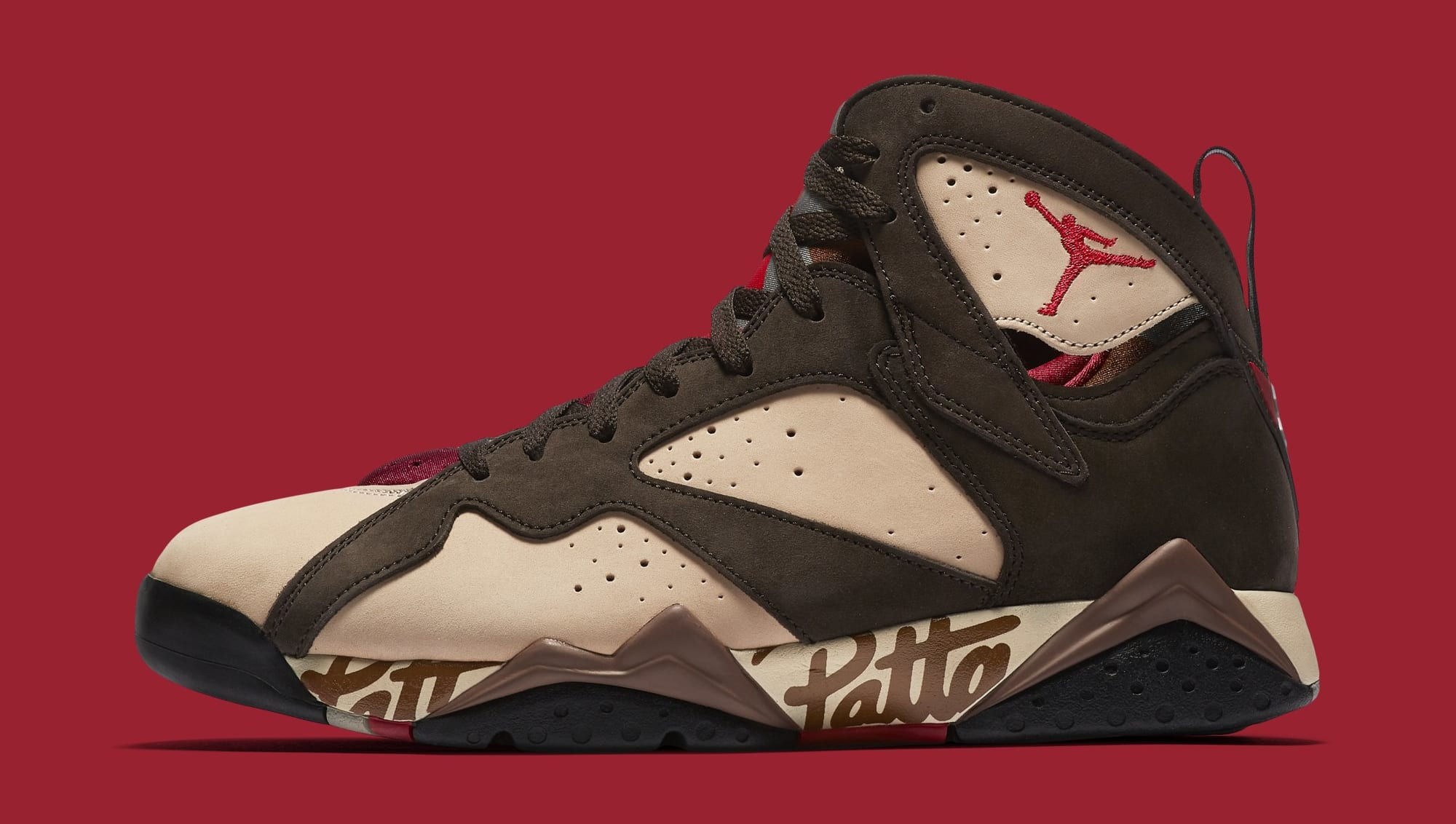 Patta x Air Jordan 7 AT3375-200 (Lateral)