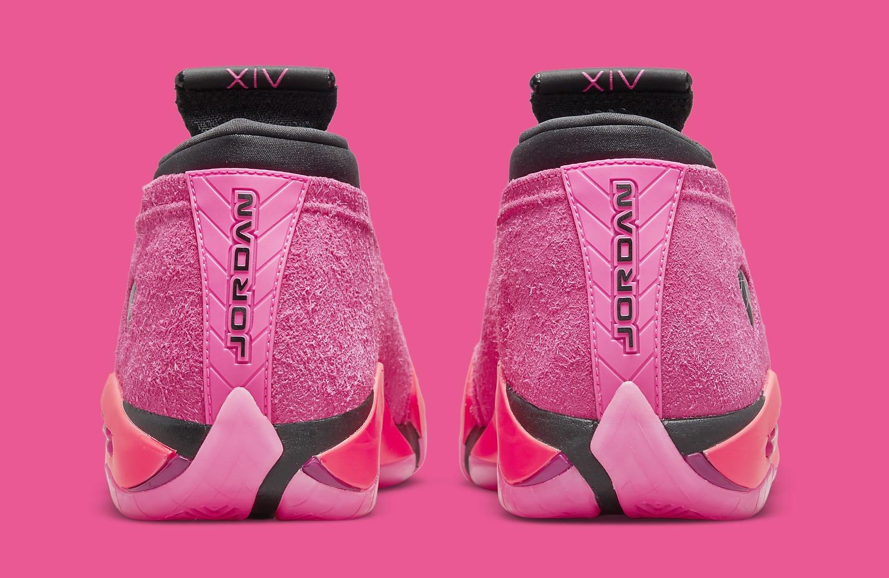 Air Jordan 14 Women's 'Shocking Pink' DH4121 600 Heel