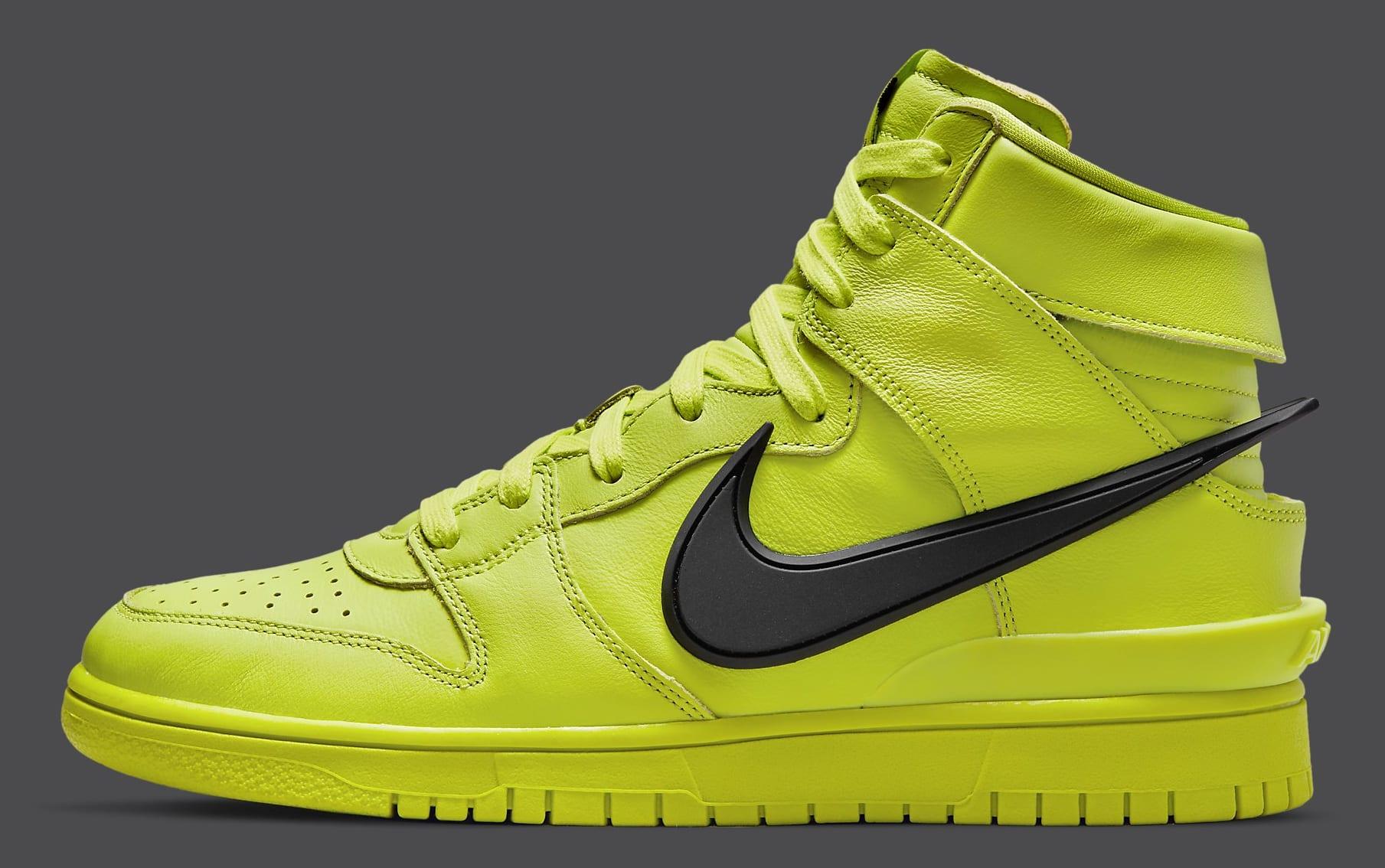 Ambush x Nike Dunk High Atomic Green Release Date CU7544-300 Profile
