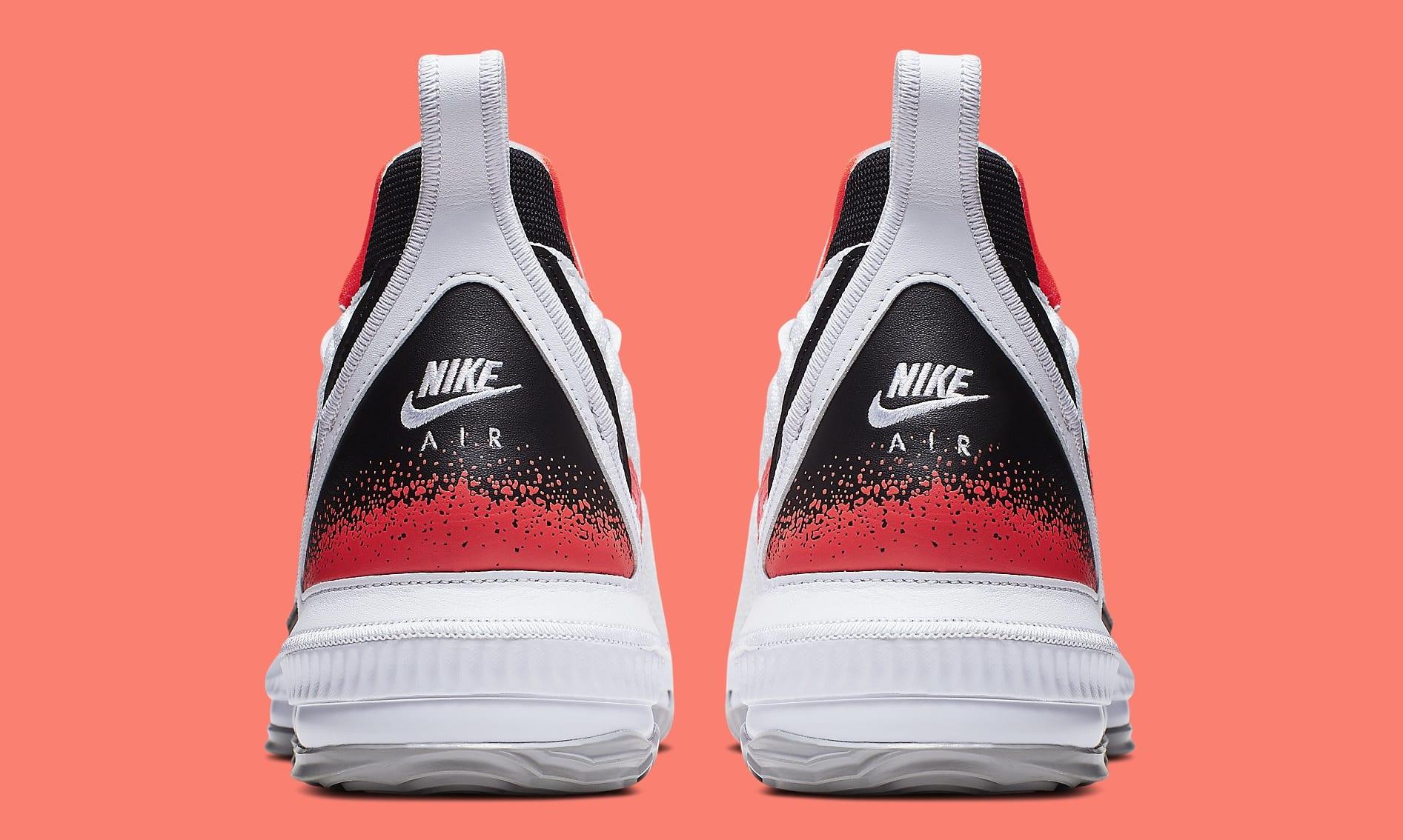 Nike LeBron 16 'Hot Lava' White CI1521-100 Heel