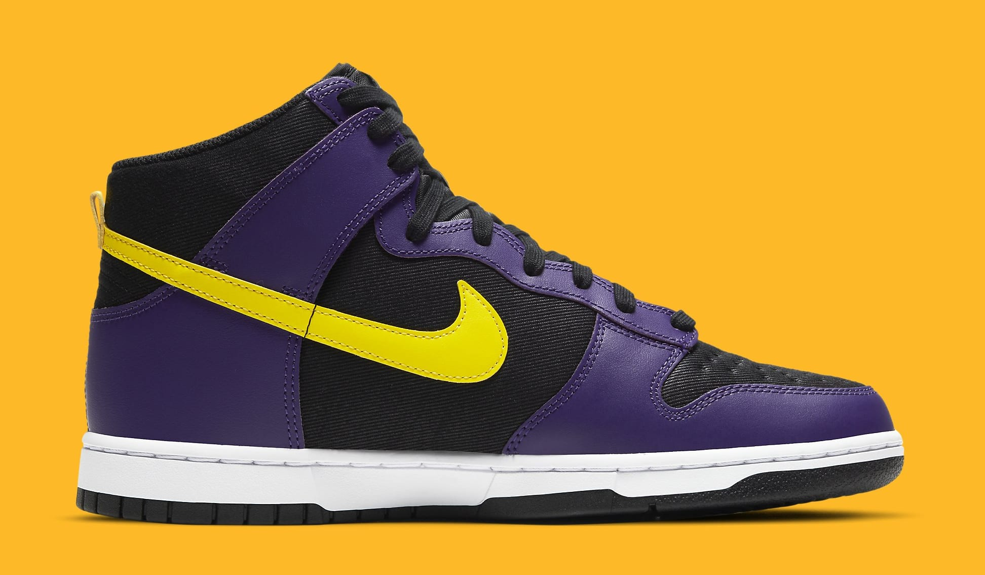 Nike Dunk High PRM EMB 'Lakers' DH0642-001 Medial