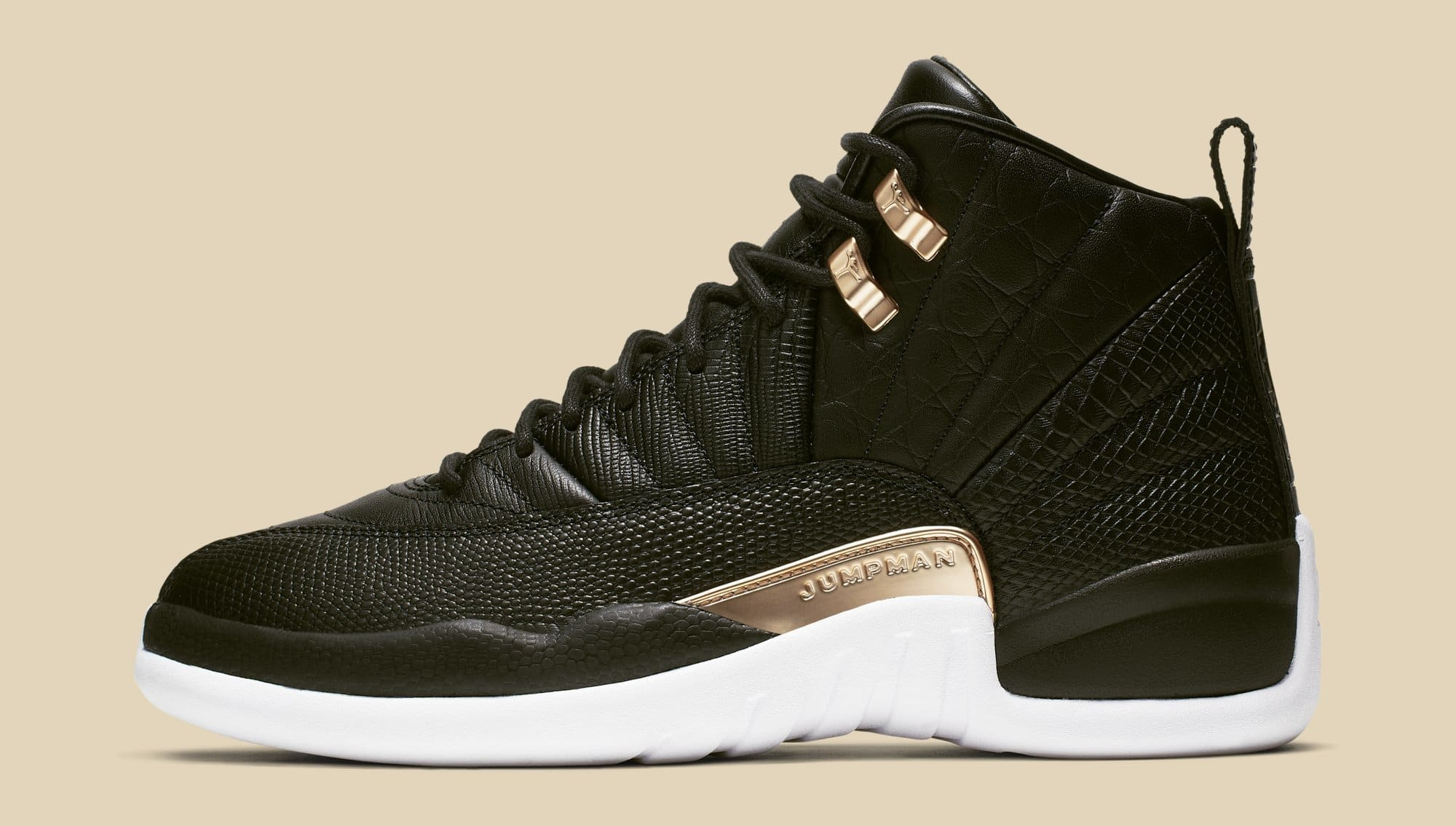 490866fefcc3 WMNS Air Jordan 12  Black Metallic Gold-White  AO6068-007 Release ...
