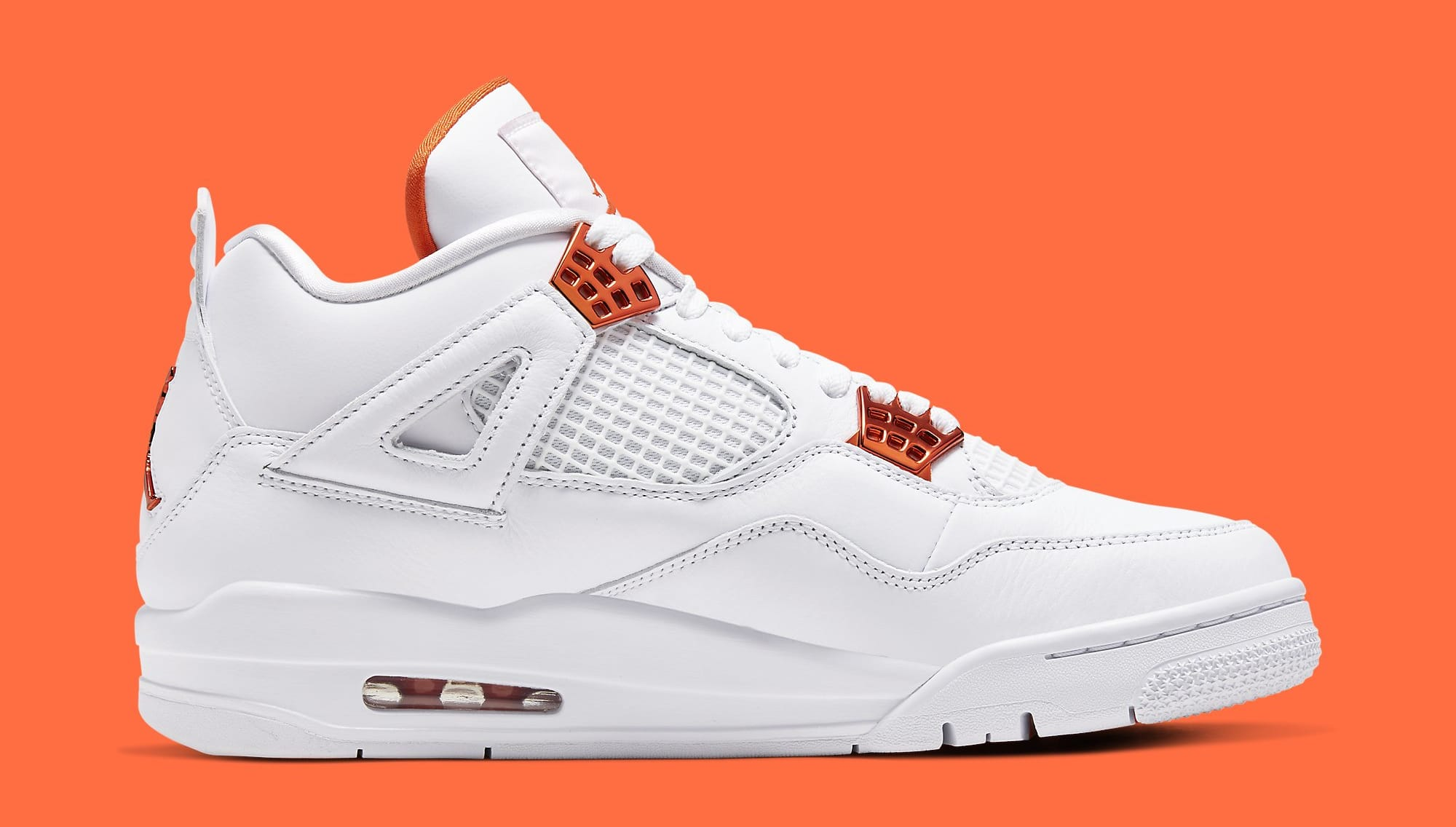 Air Jordan 4 Metallic Orange Release Date CT8527-118 Medial