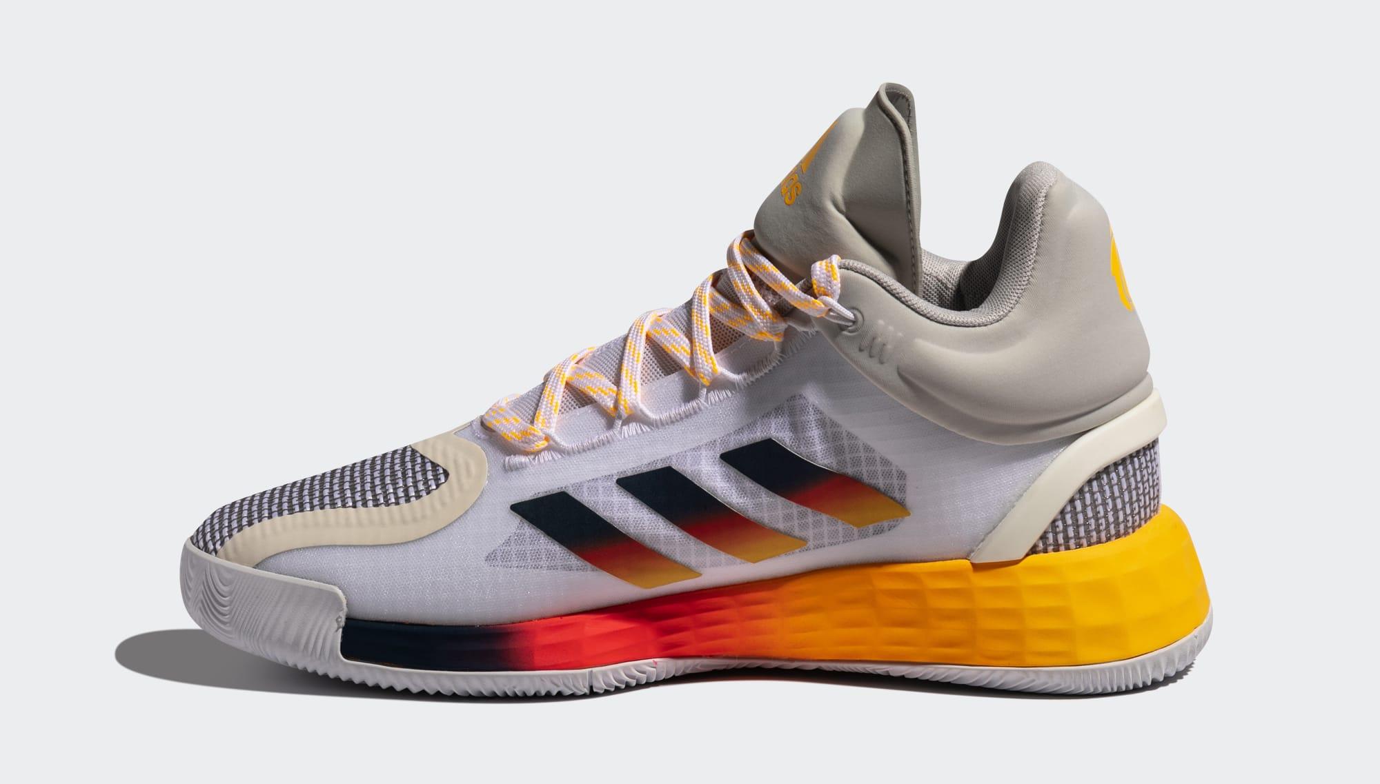 Adidas D Rose 11 'Ftwr White/Solar Gold/Tech Indigo' FW8508 Medial