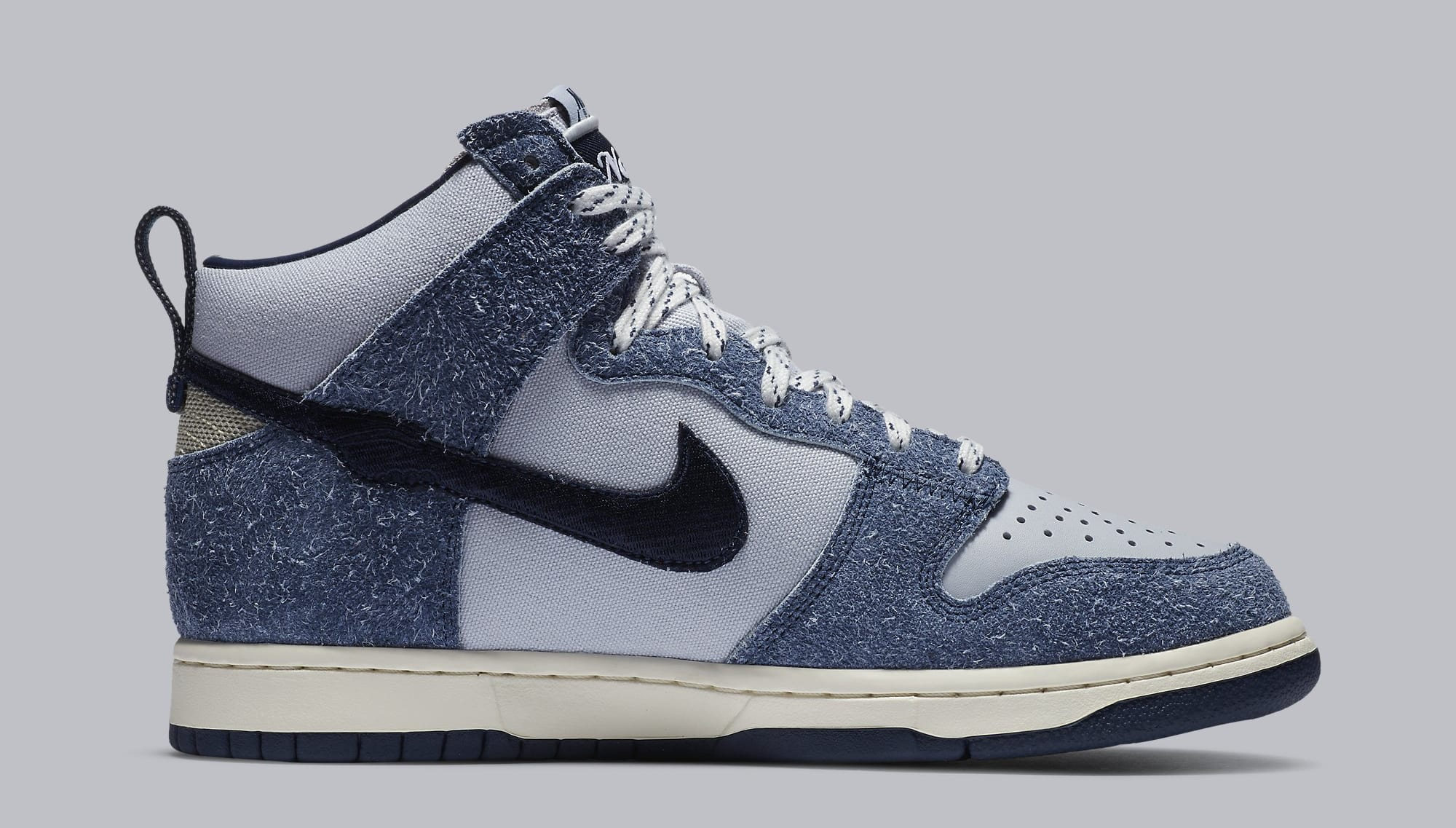 Notre x Nike Dunk High 'Pearl White/Blue Void/Grand Purple' CW3092-400 (Sole)