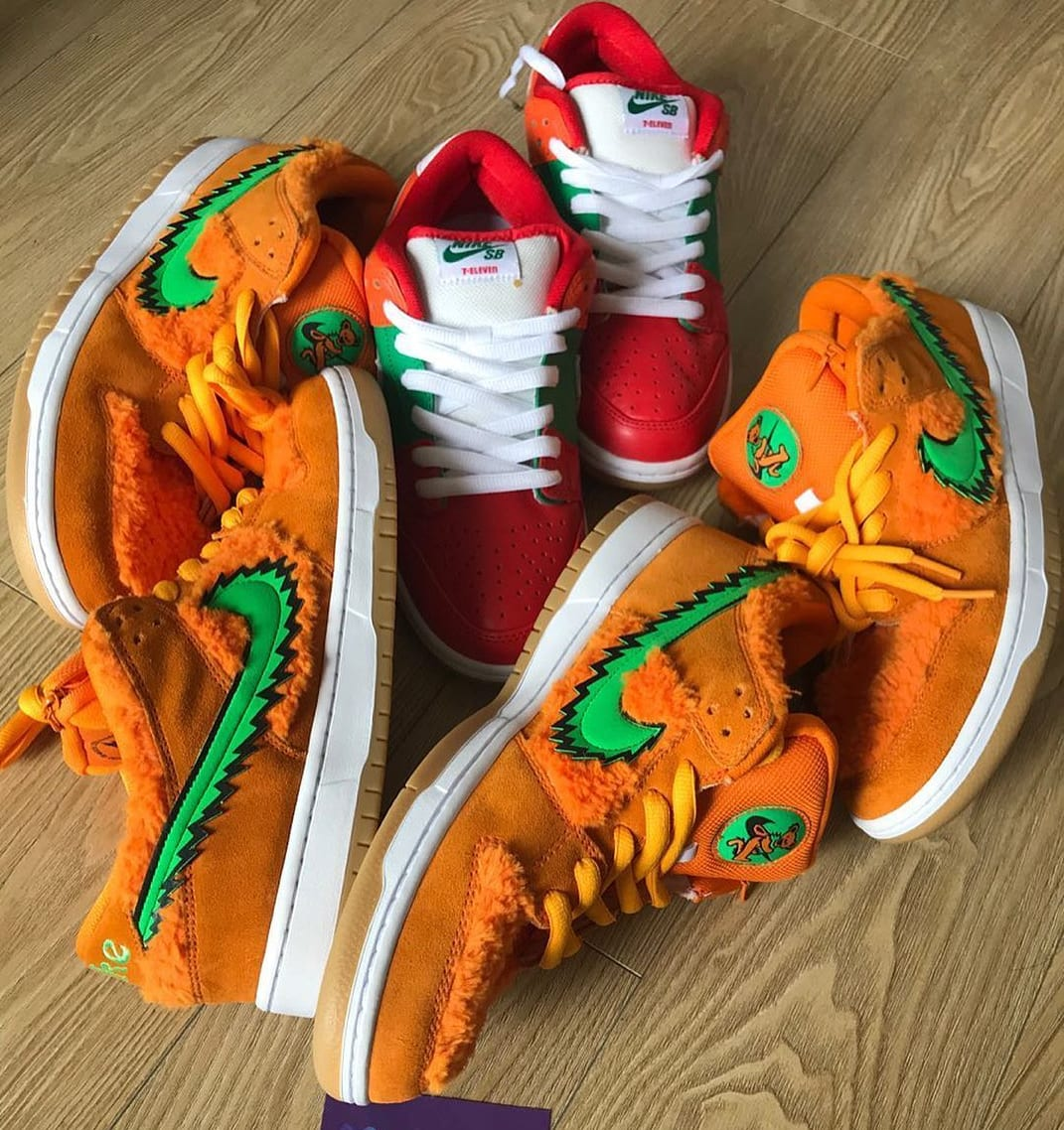 Grateful Dead x Nike SB Dunk Low Orange/Green