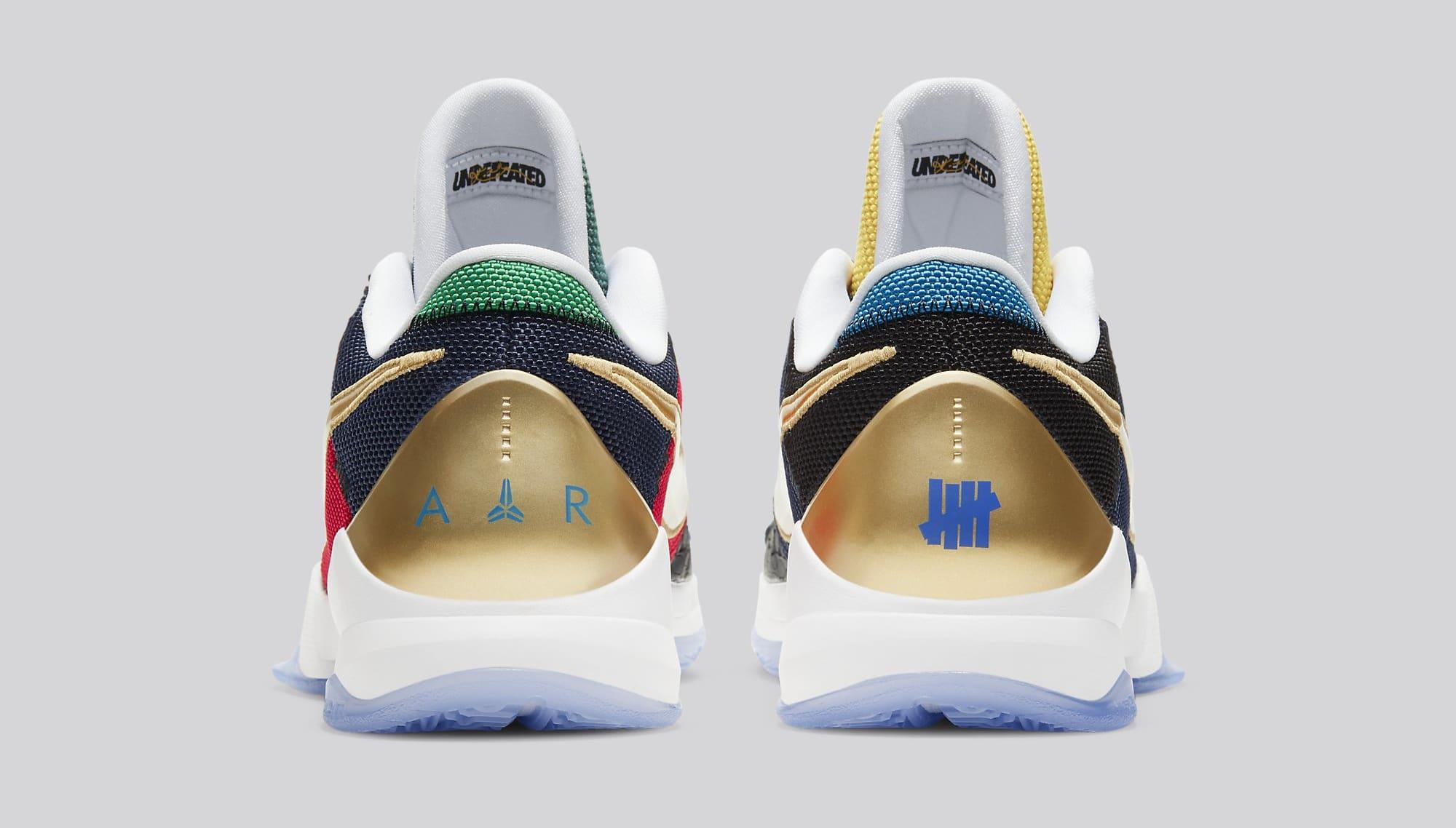 Undefeated x Nike Kobe 5 Protro 'Dirty Dozen' DB5551-900 Heel