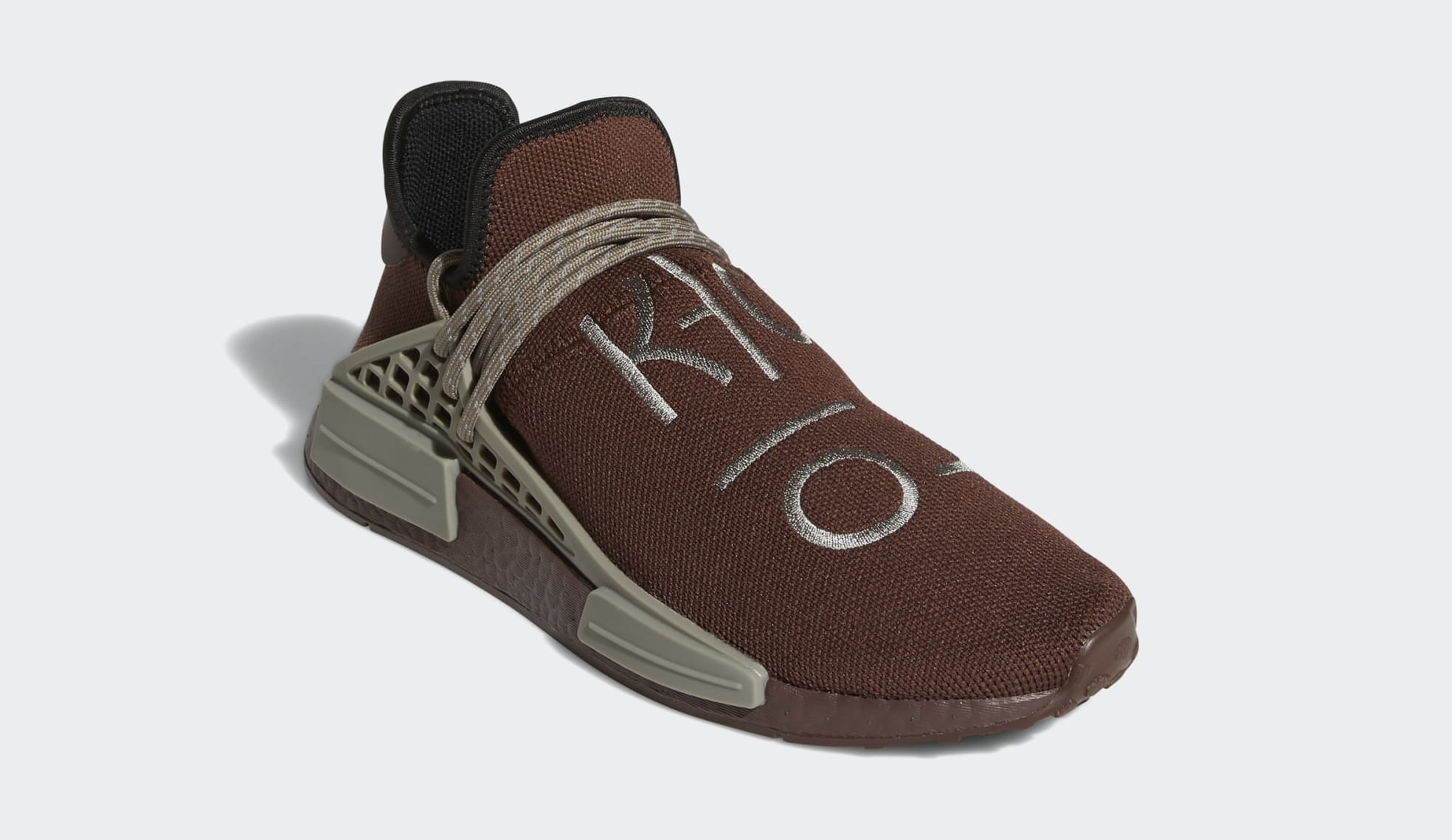 Pharrell Adidas NMD Hu Brown GY0090 Front