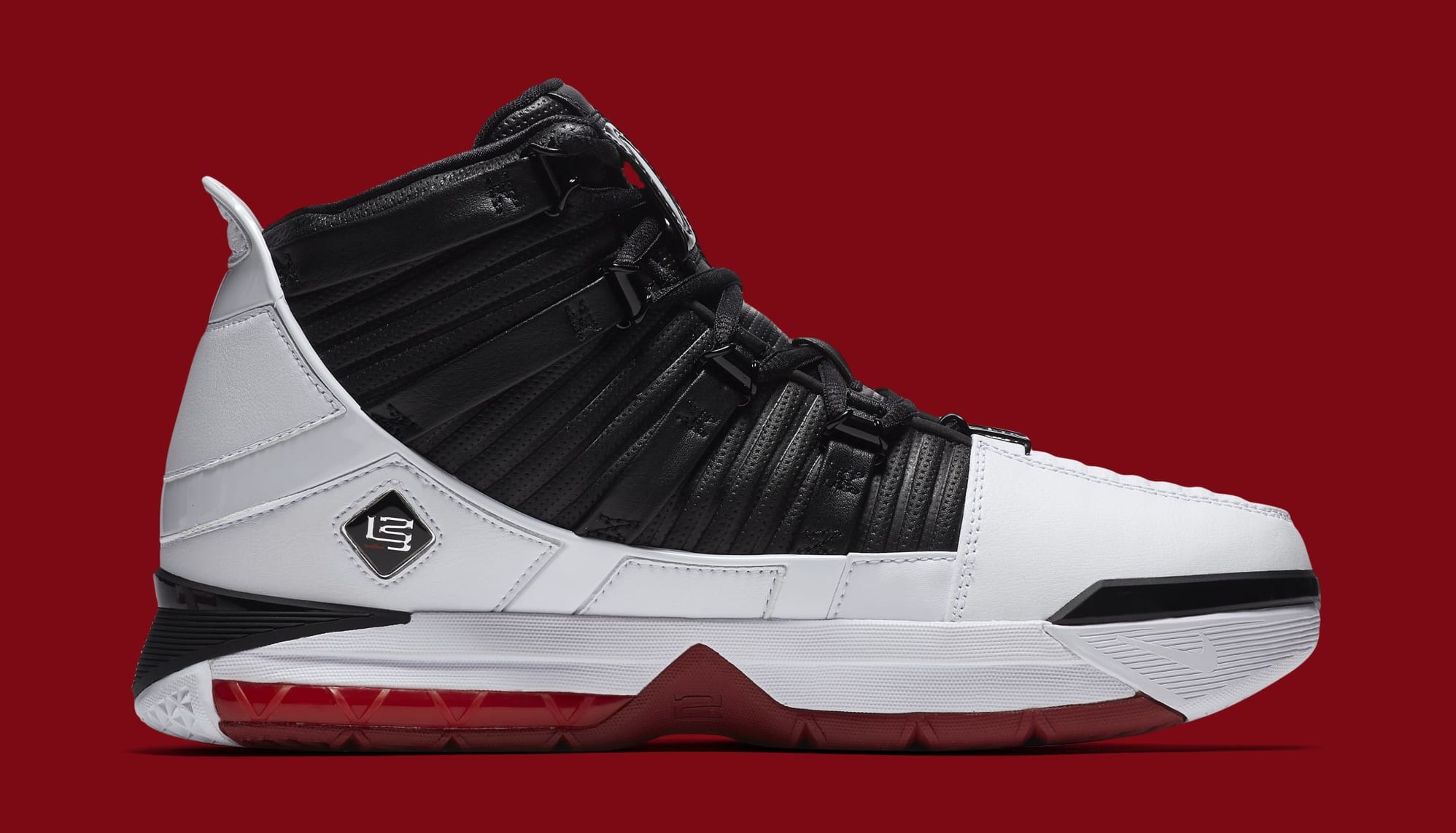 96866fe87107 Nike Zoom LeBron 3  Home  White Black-Varsity Crimson AO2434-101 ...