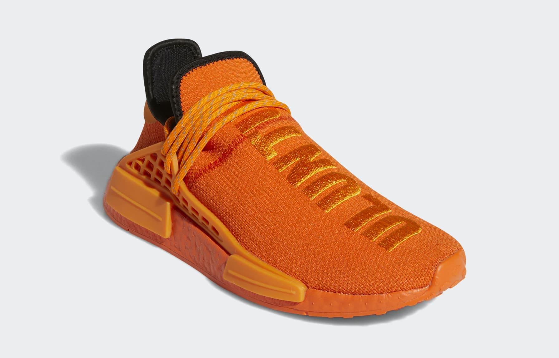 Pharrell x Adidas NMD Hu Orange GY0095 Front