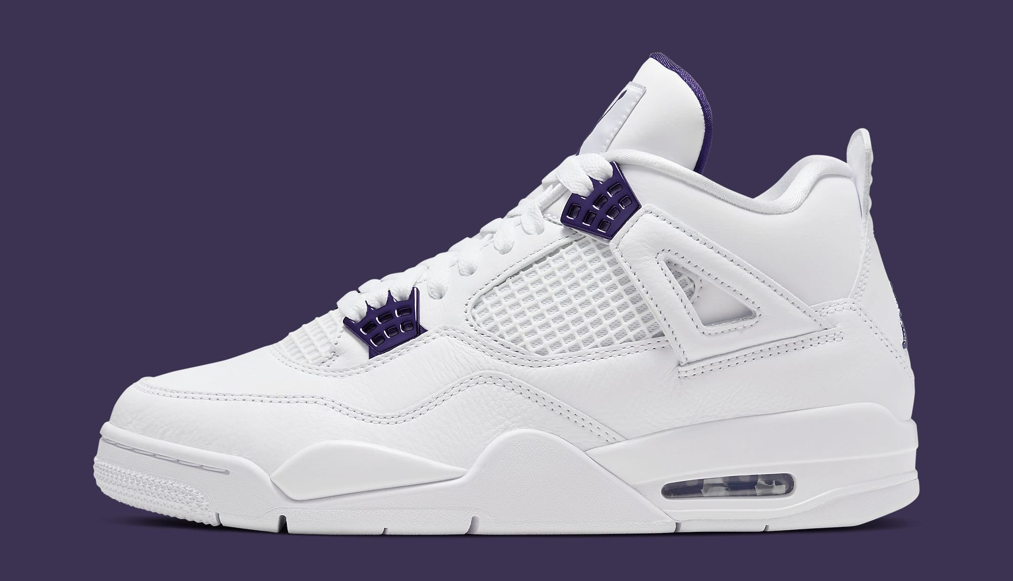 Air Jordan 4 Retro 'Metallic Purple' CT8527-115 Lateral