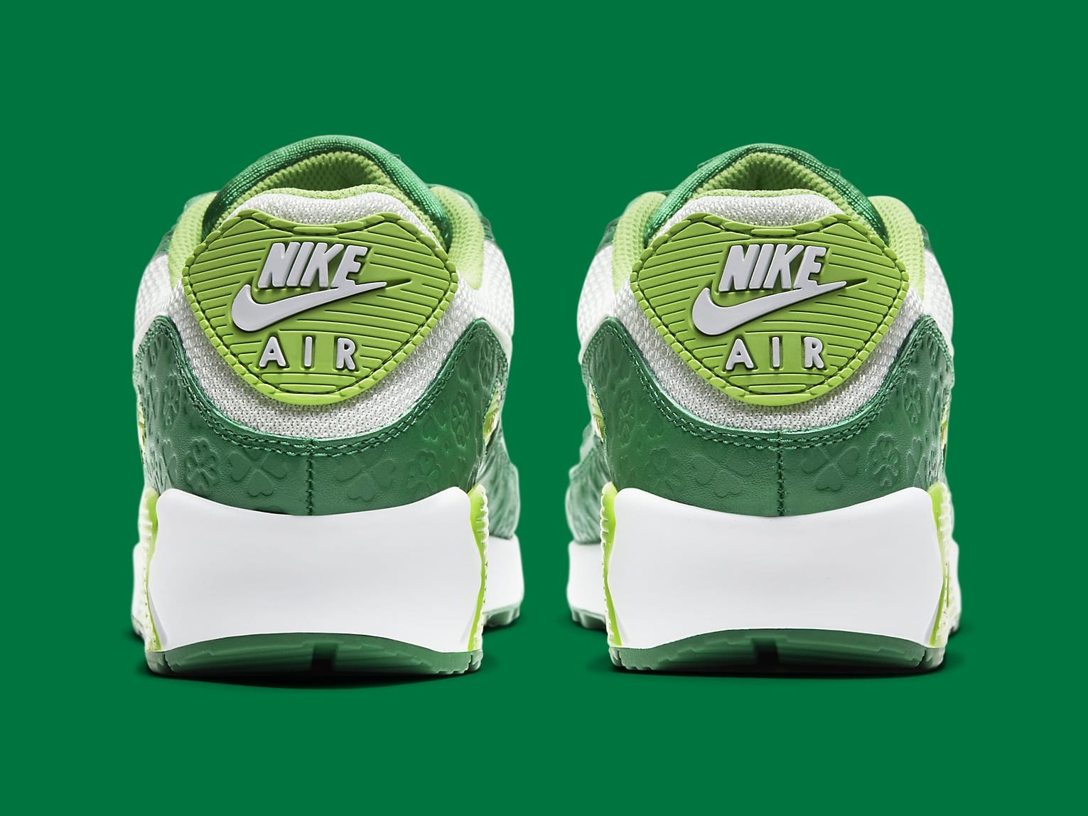 Nike Air Max 90 St. Patrick's Day Release Date DD8555-300 Heel