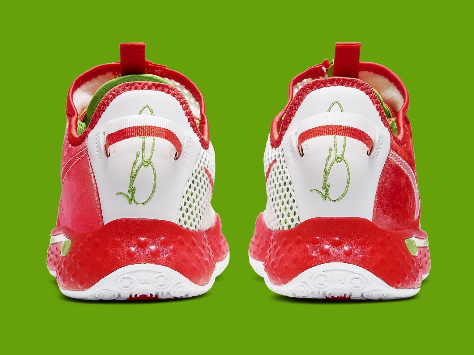Nike PG 4 Christmas Release Date CD5082-602 Heel