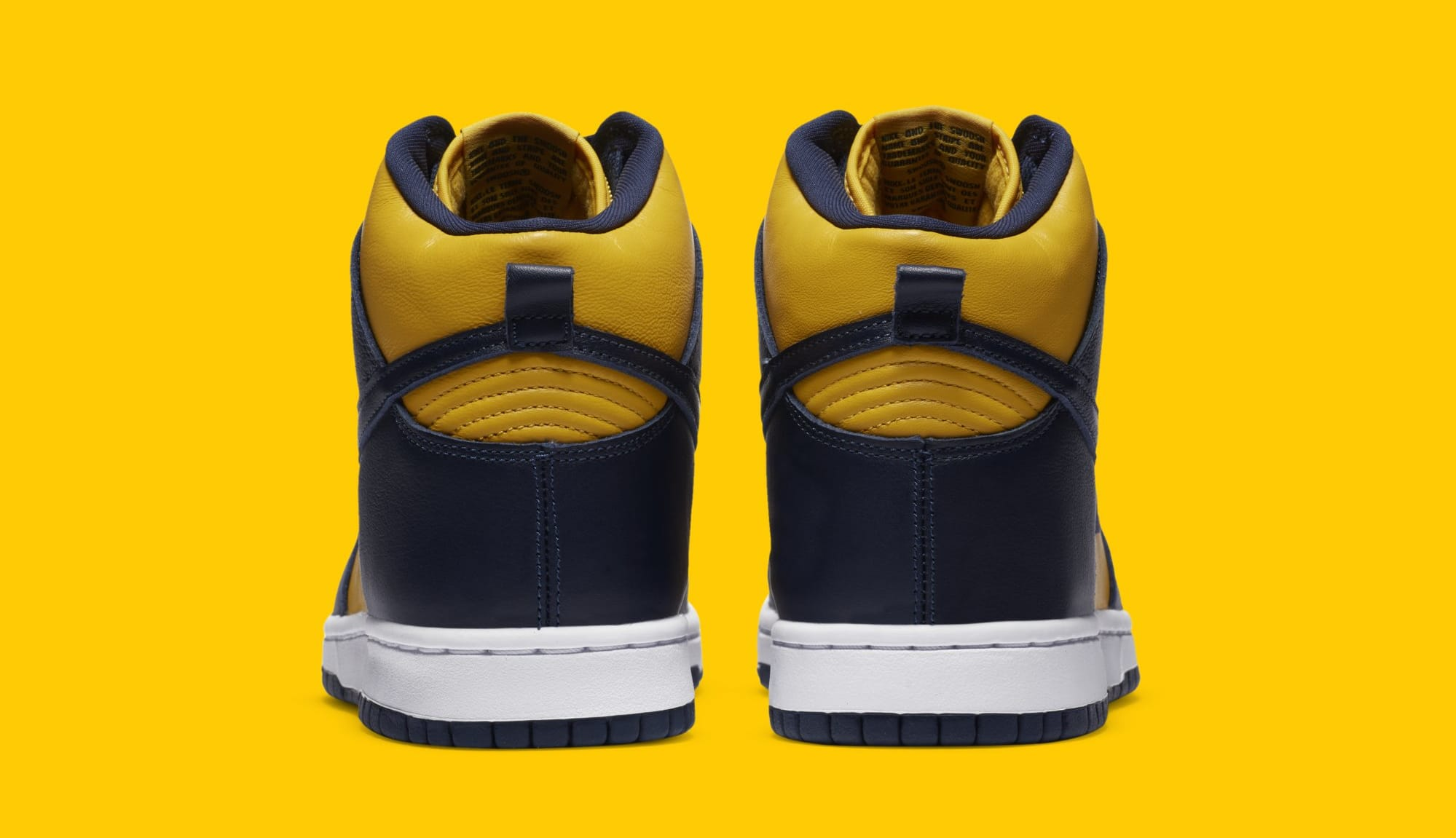 Nike Dunk High SP 'Michigan' CZ8149-700 Heel