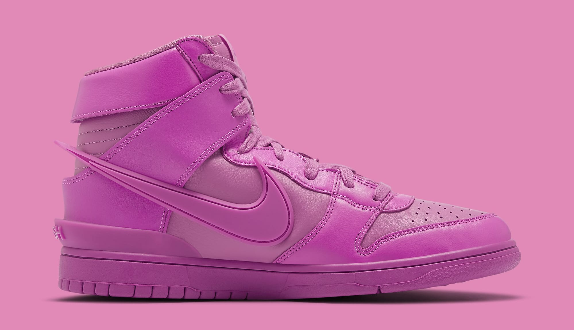 Ambush x Nike Dunk High 'Cosmic Fuchsia' CU7544-600 Medial