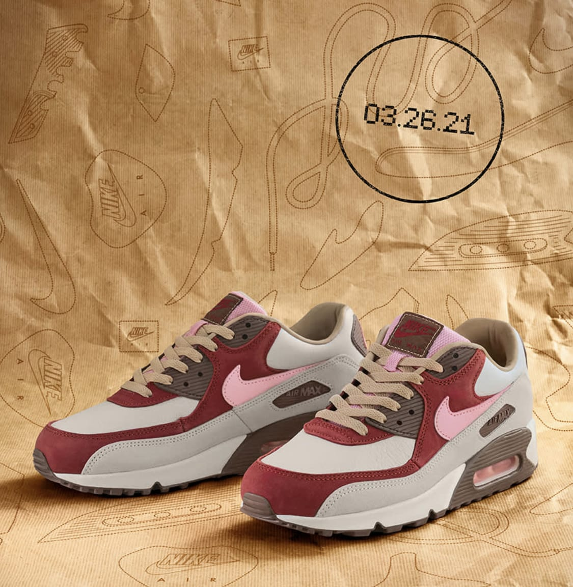 Nike Air Max 90 'Bacon' 2021 CU1816-100 Pair