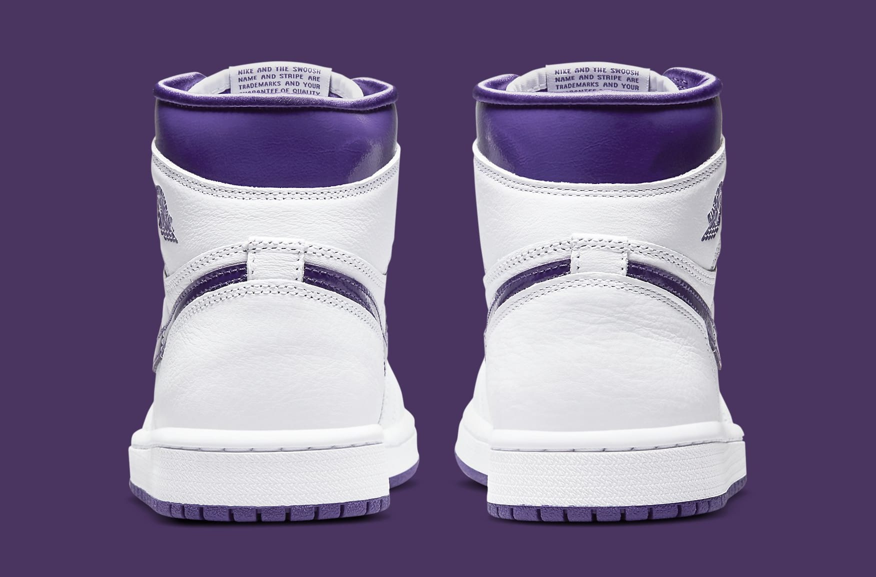 Air Jordan 1 Retro High OG Women's 'Court Purple' CD0461-151 Heel