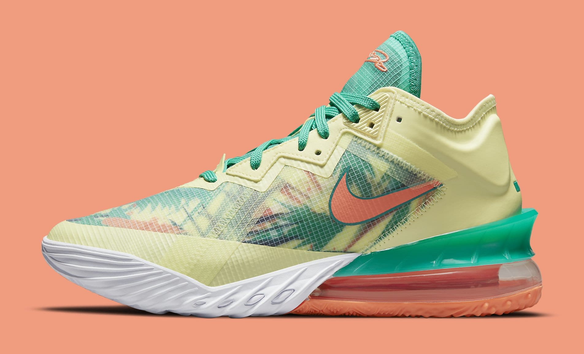 Nike LeBron 18 Low 'LeBronold Palmer' CV7562-300 Lateral