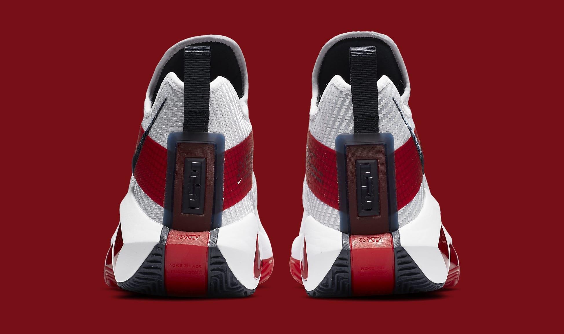 Nike LeBron Soldier 14 White/University Red-Team Red CK6024-100 Heel