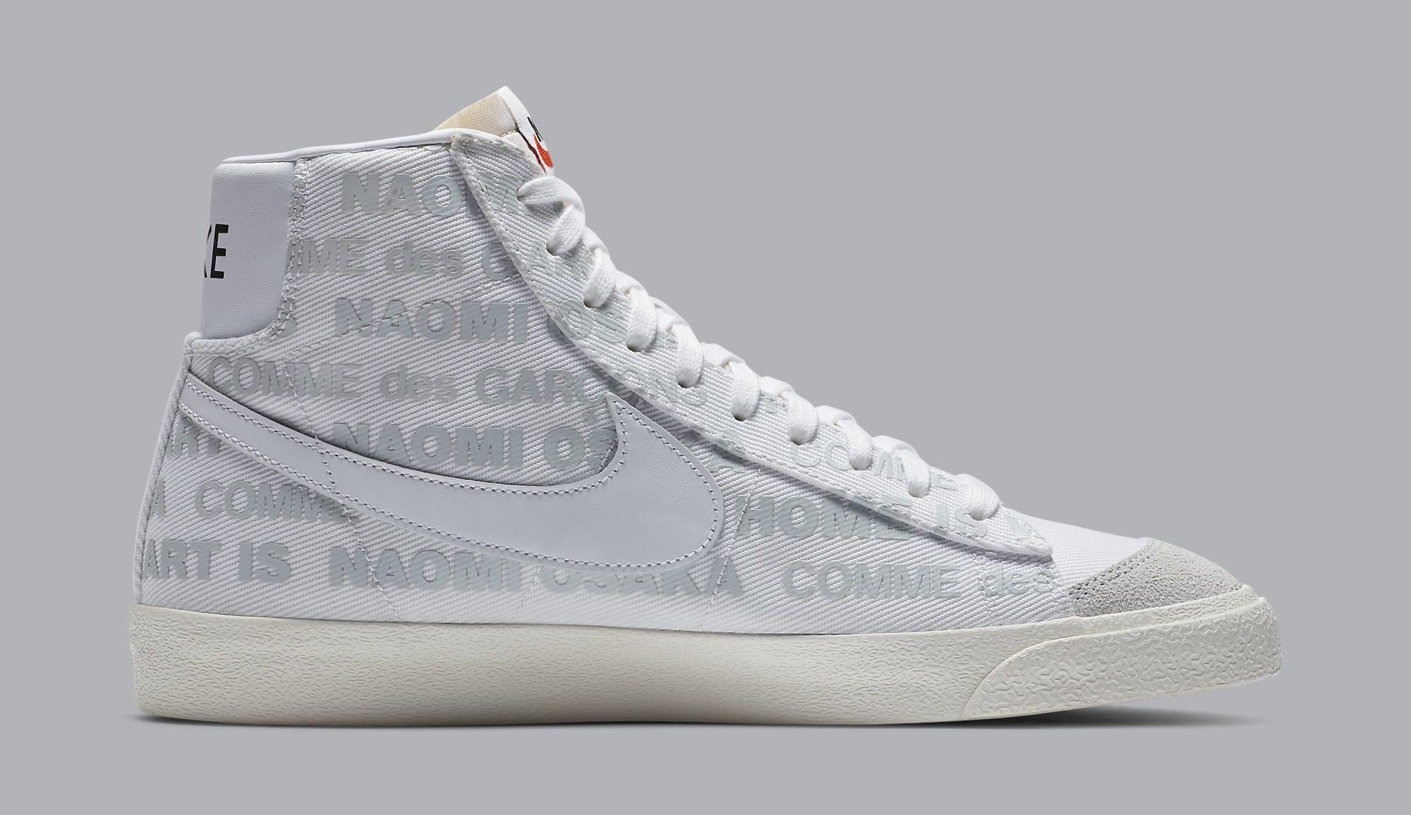 Comme des Garcons x Naomi Osaka x Nike Blazer Mid DA5383-100 Medial