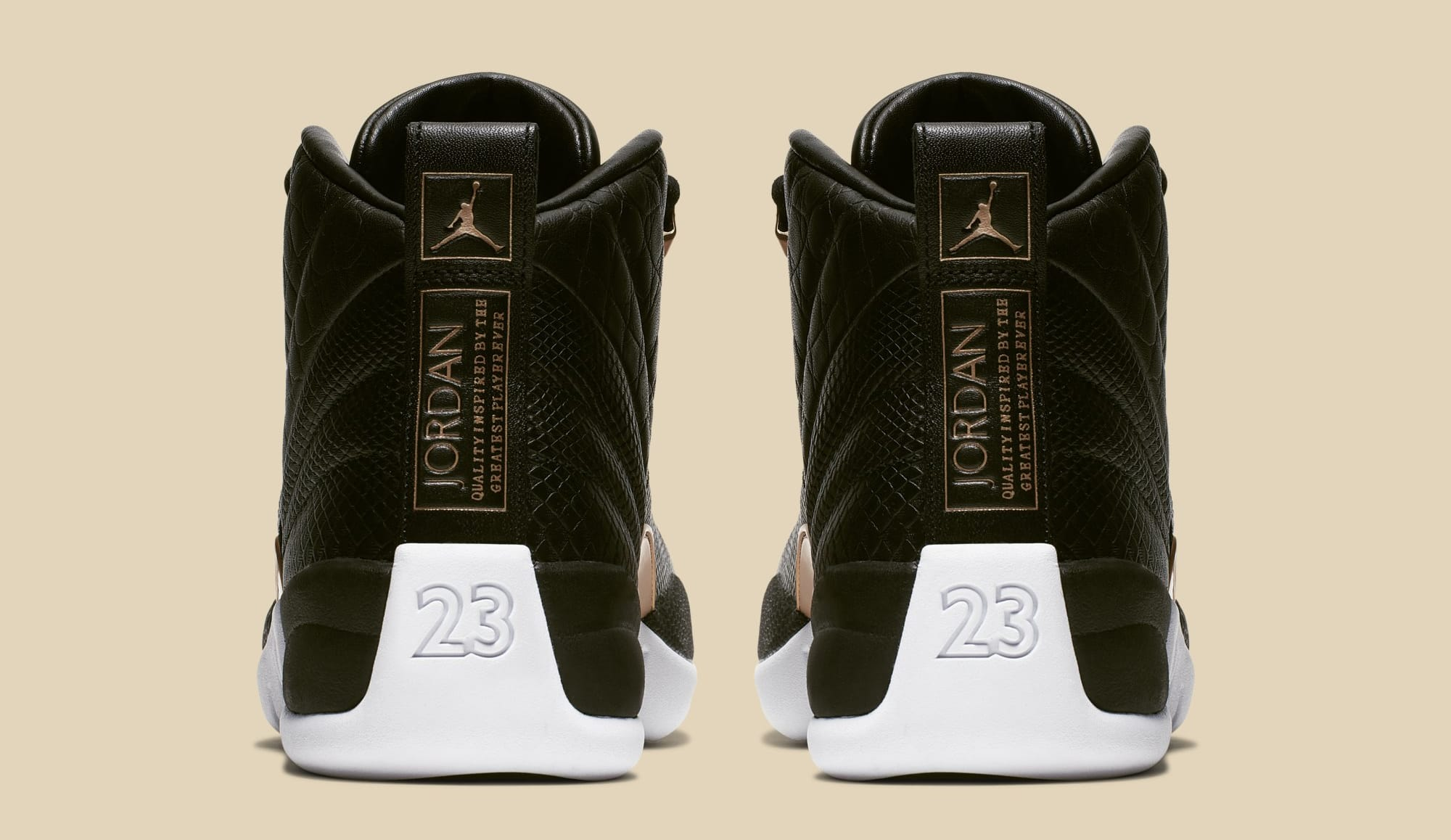 25846602699f Image via Nike WMNS Air Jordan 12  Black Metallic Gold-White  AO6068-007 (
