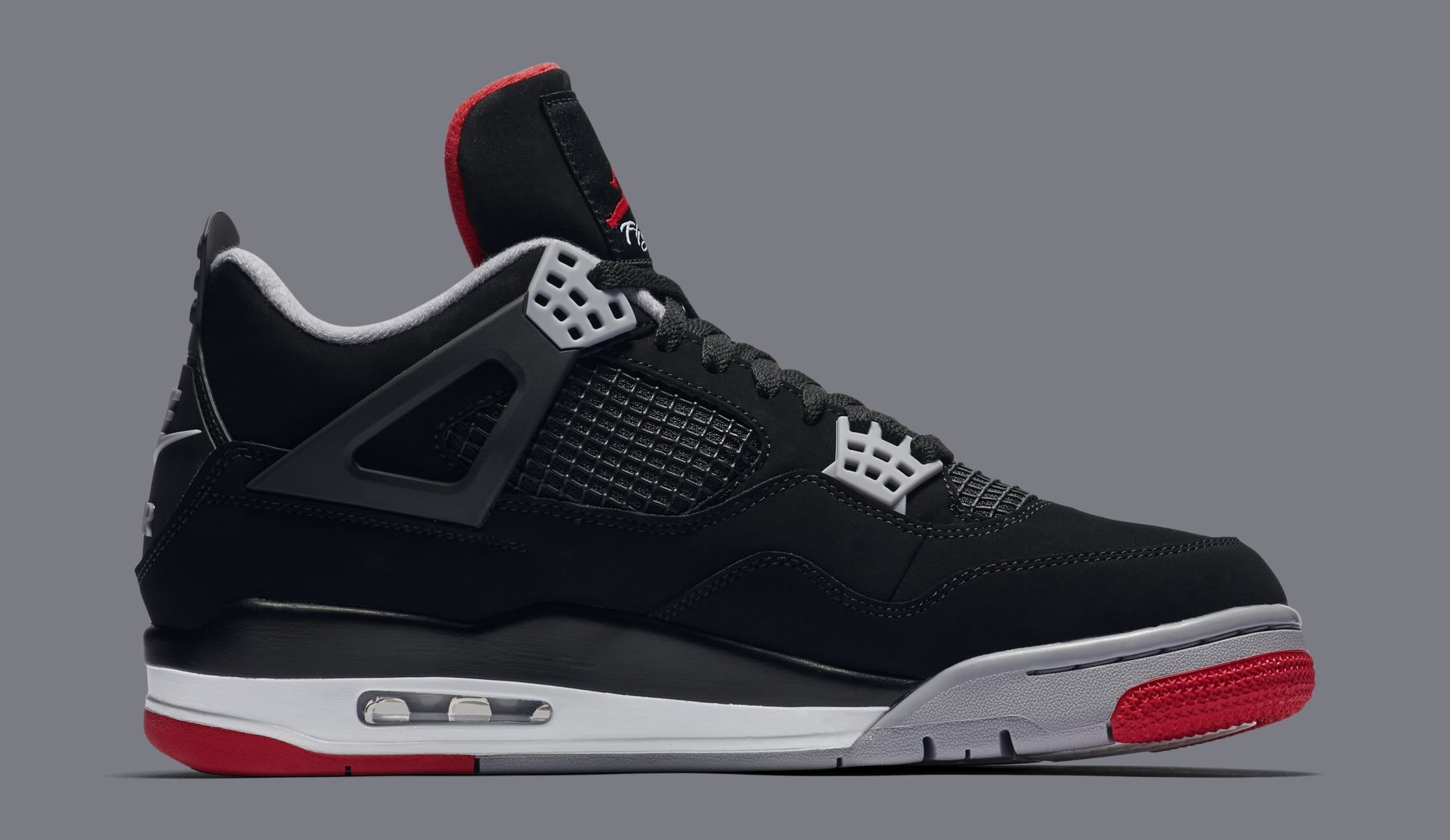 new concept e499c c91b1 Air Jordan 4 Retro 'Black/Cement Grey/Summit White/Fire Red ...