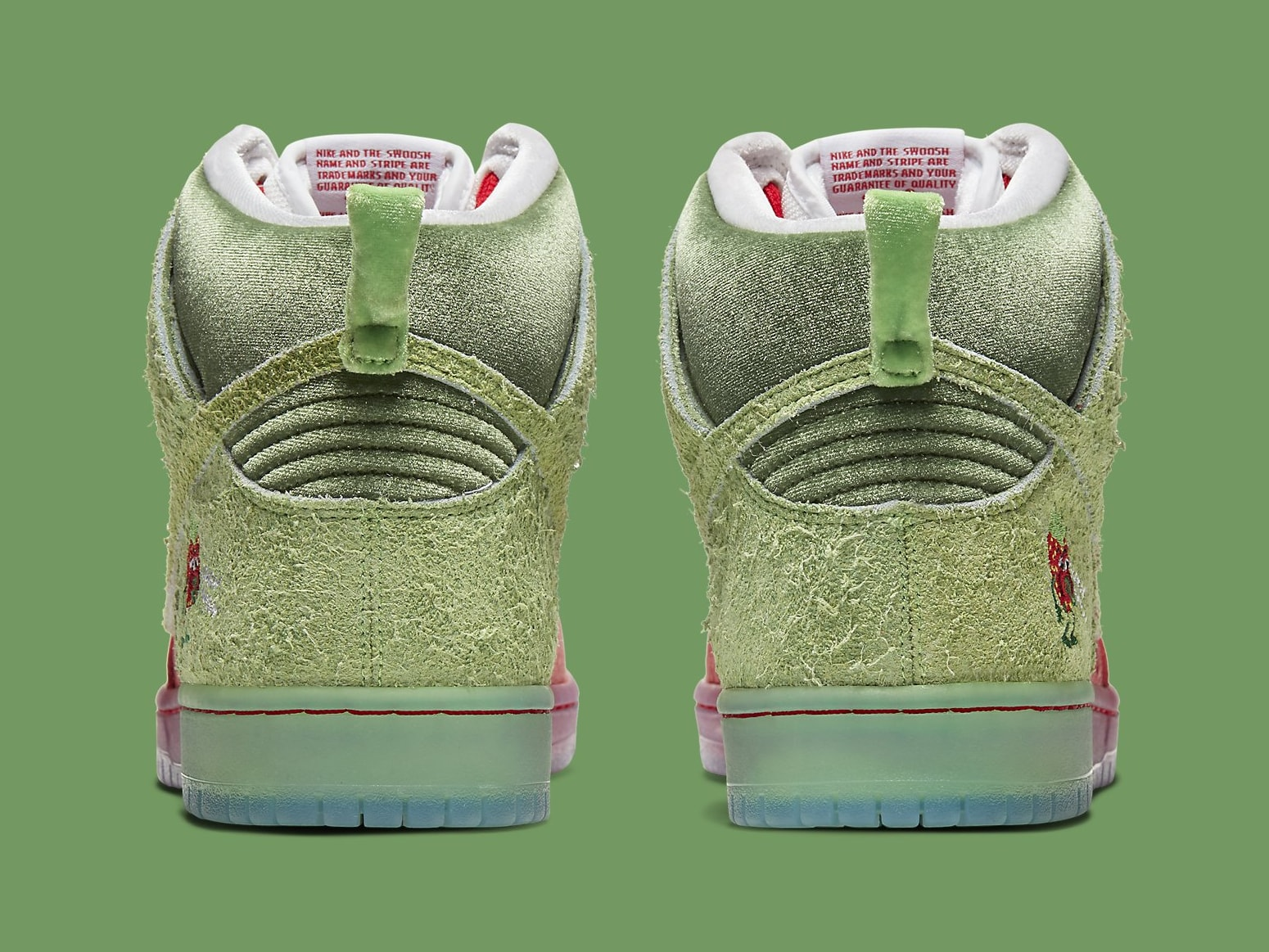 Strawberry Cough x Nike SB Dunk High SW7093-600 Release Date Heel
