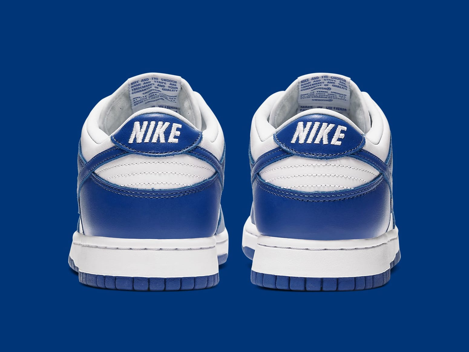 Nike Dunk Low Kentucky Release Date CU1726-100 Heel