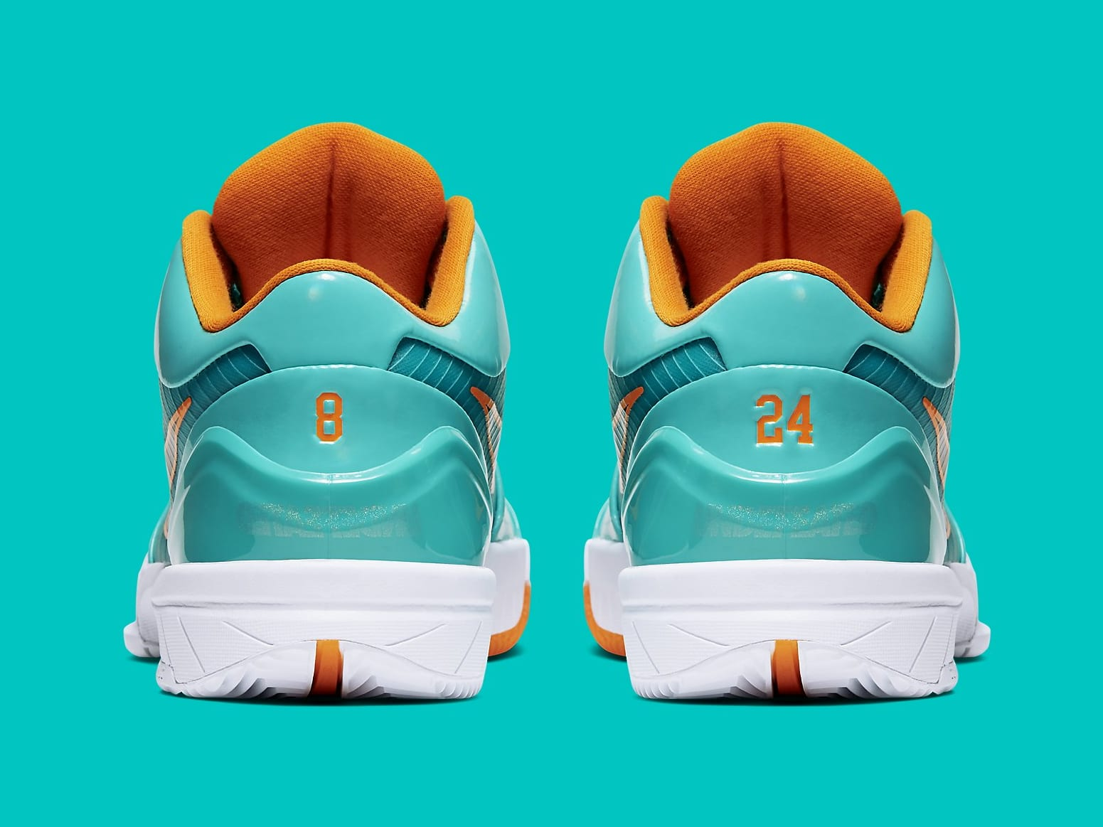 UNDFTD x Nike Kobe 4 Protro Teal Release Date CQ38869-300 Heel