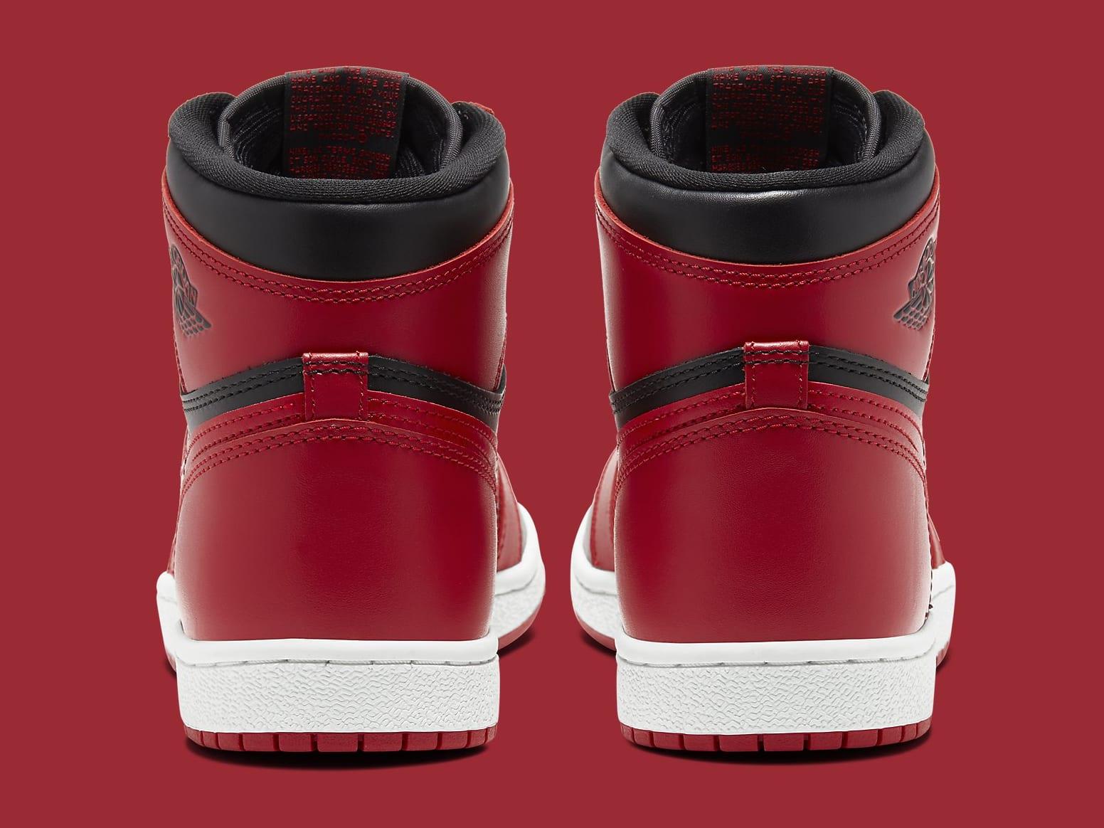 Air Jordan 1 High New Beginnings Varsity Red Release Date BQ4422-600 Heel