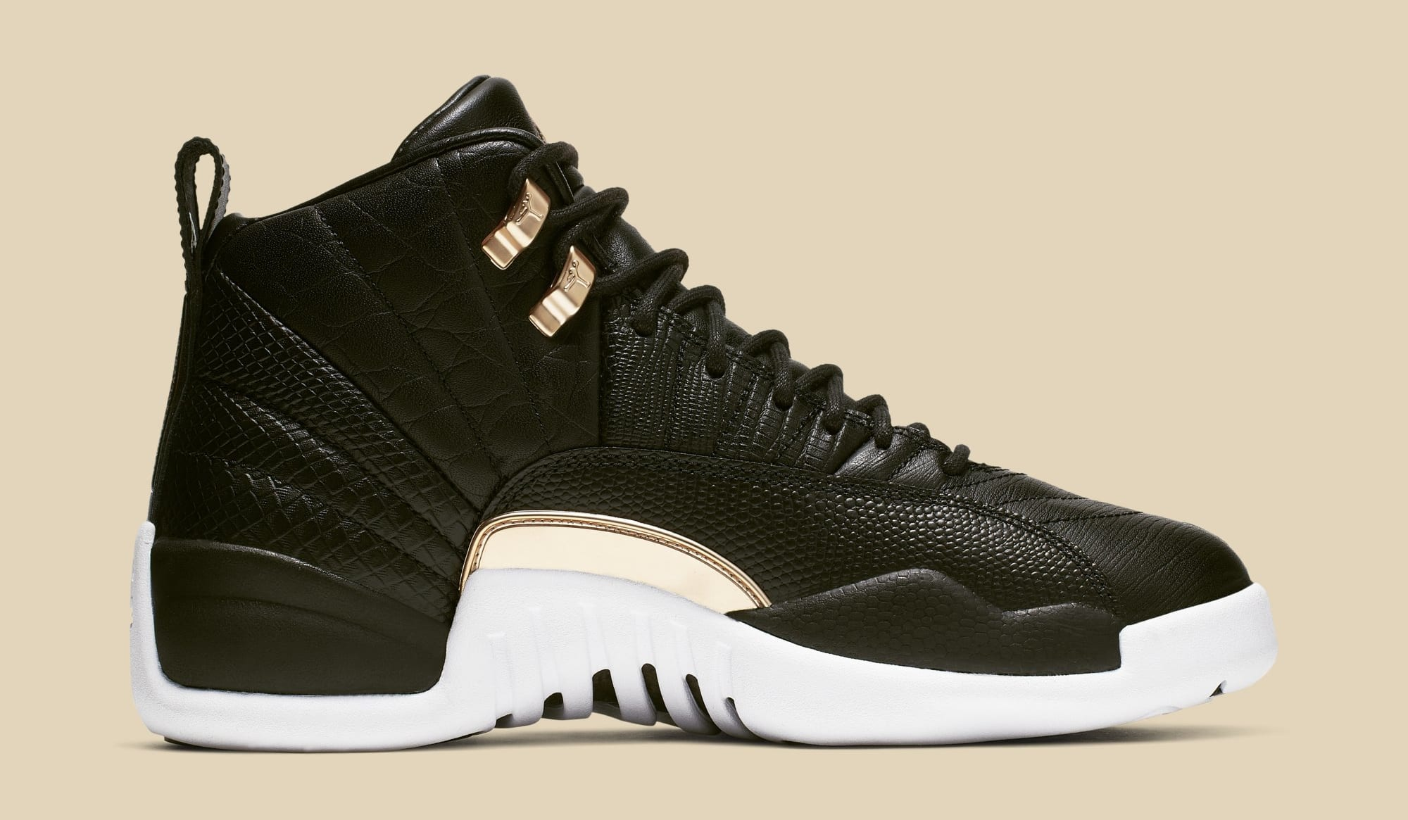 separation shoes c2969 91827 Image via Nike WMNS Air Jordan 12  Black Metallic Gold-White  AO6068-007 (