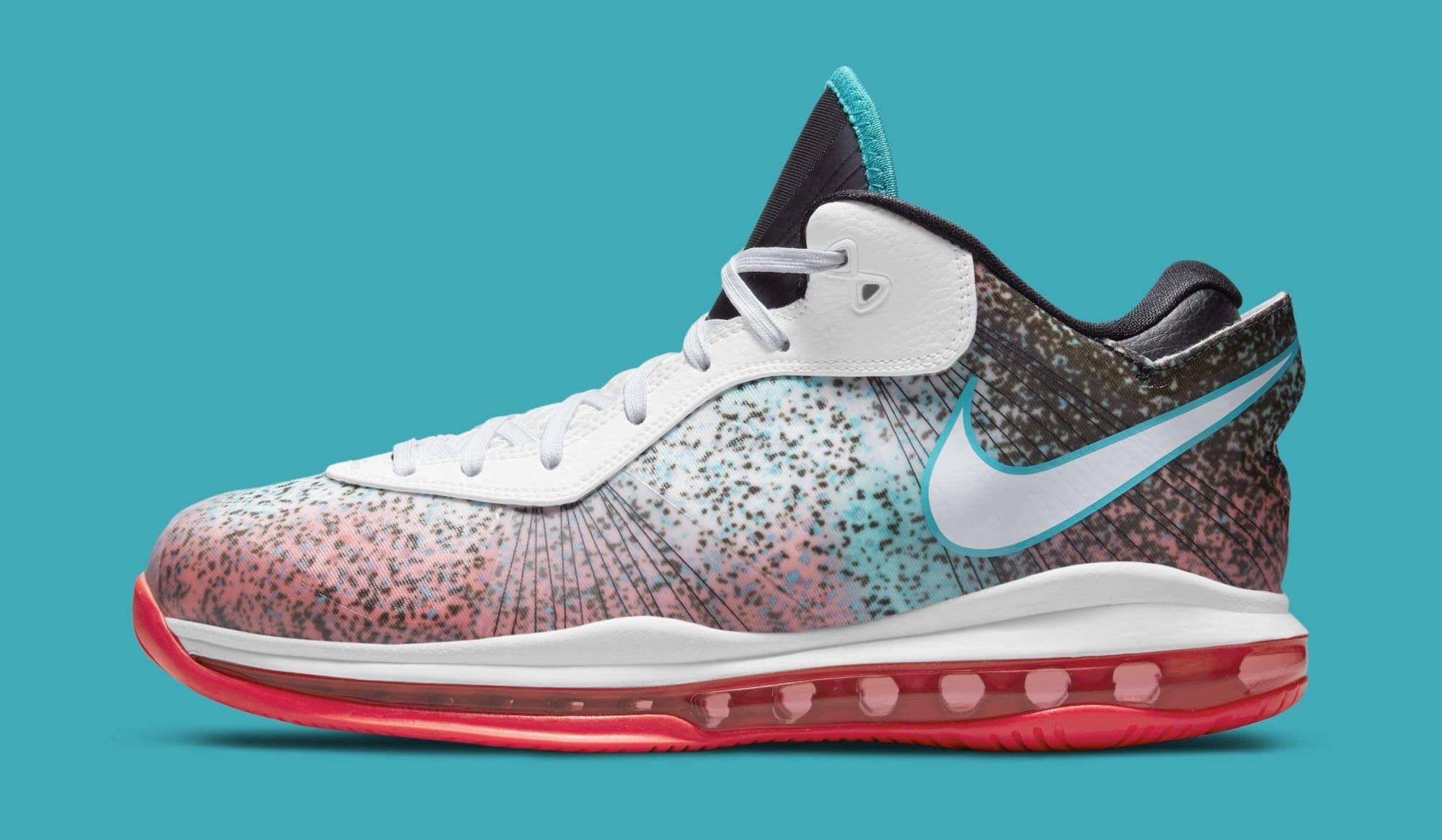 Nike LeBron 8 V2 Low 'Miami Nights' 2021 DJ4436-100 (Medial)