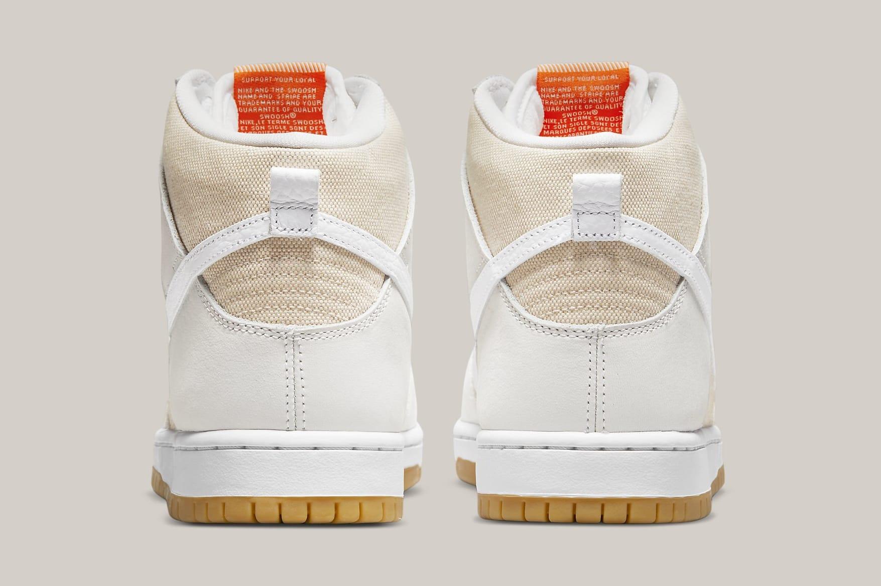 Nike SB Dunk High 'Unbleached' DA9626-100 Heel
