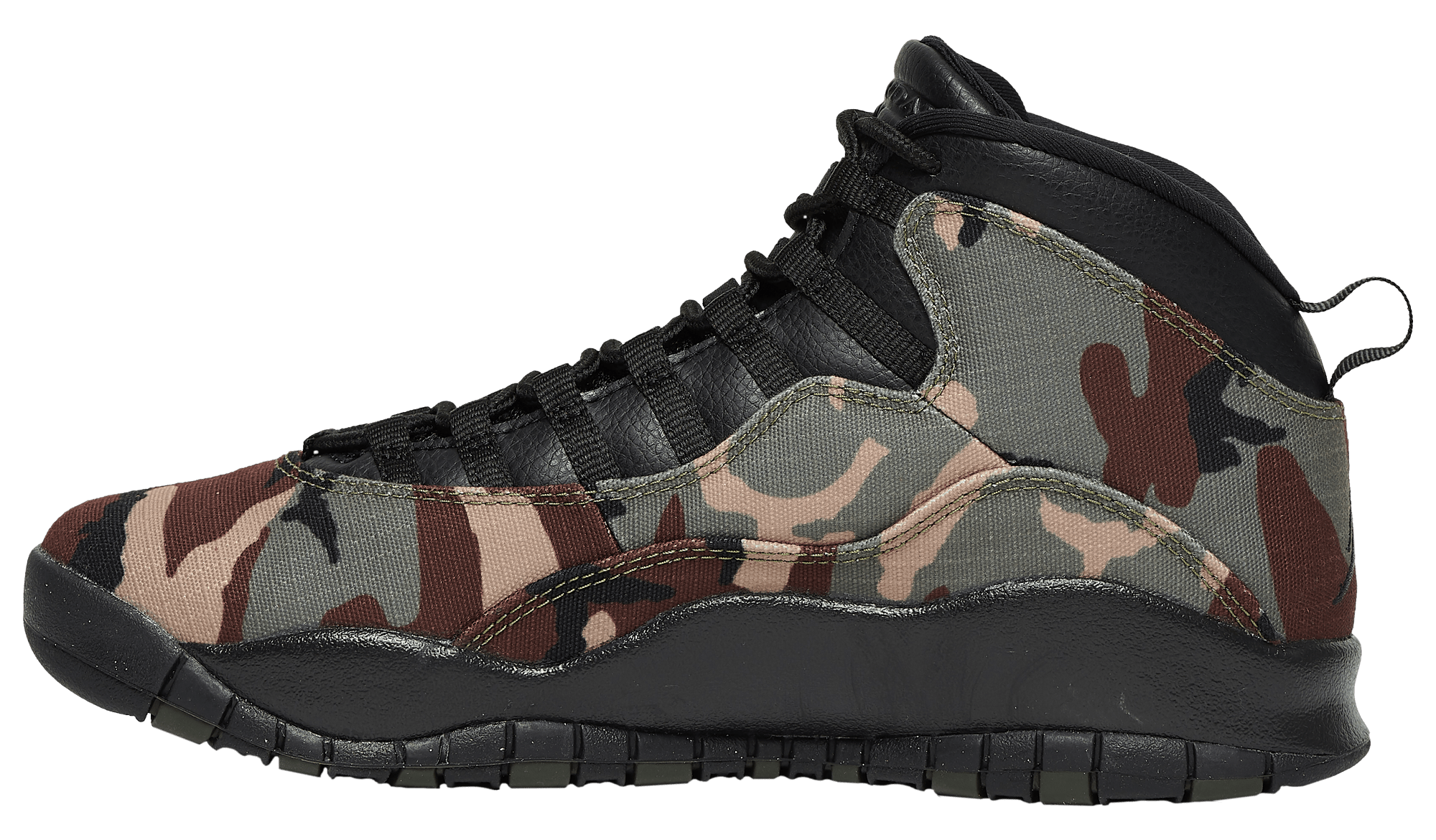 Air Jordan 10 Retro Desert Camo/Black-Light Chocolate 310805-201 Medial