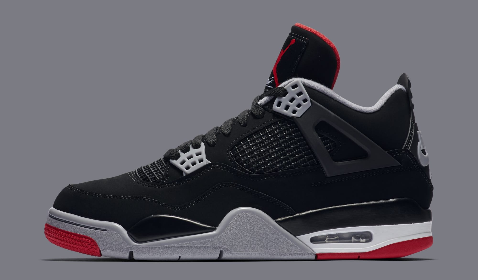 premium selection 73e96 36952 Air Jordan 4 Retro 'Black/Cement Grey/Summit White/Fire Red' 308497 ...
