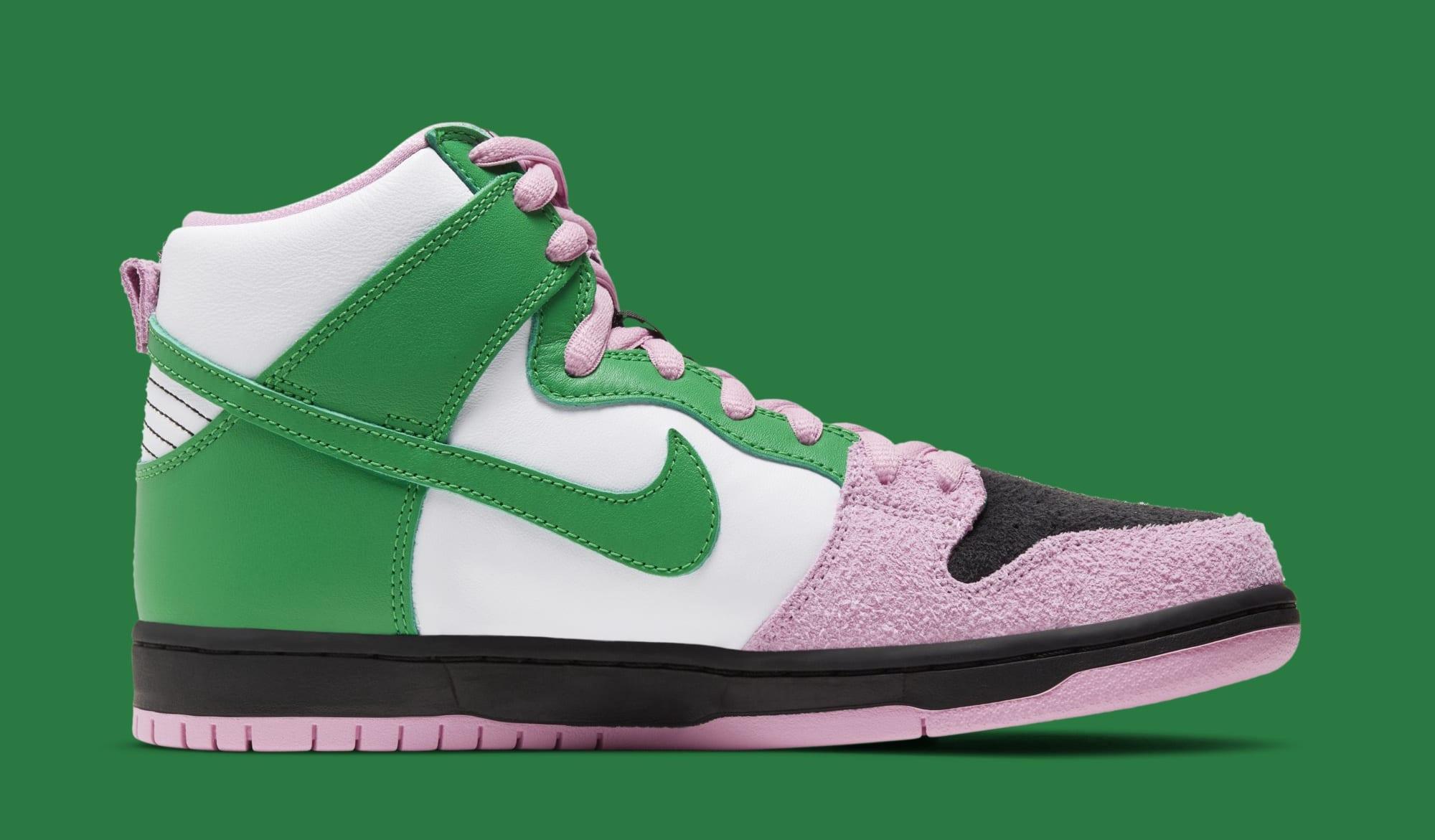 Nike SB Dunk High 'Invert Celtics' CU7349-001 Medial